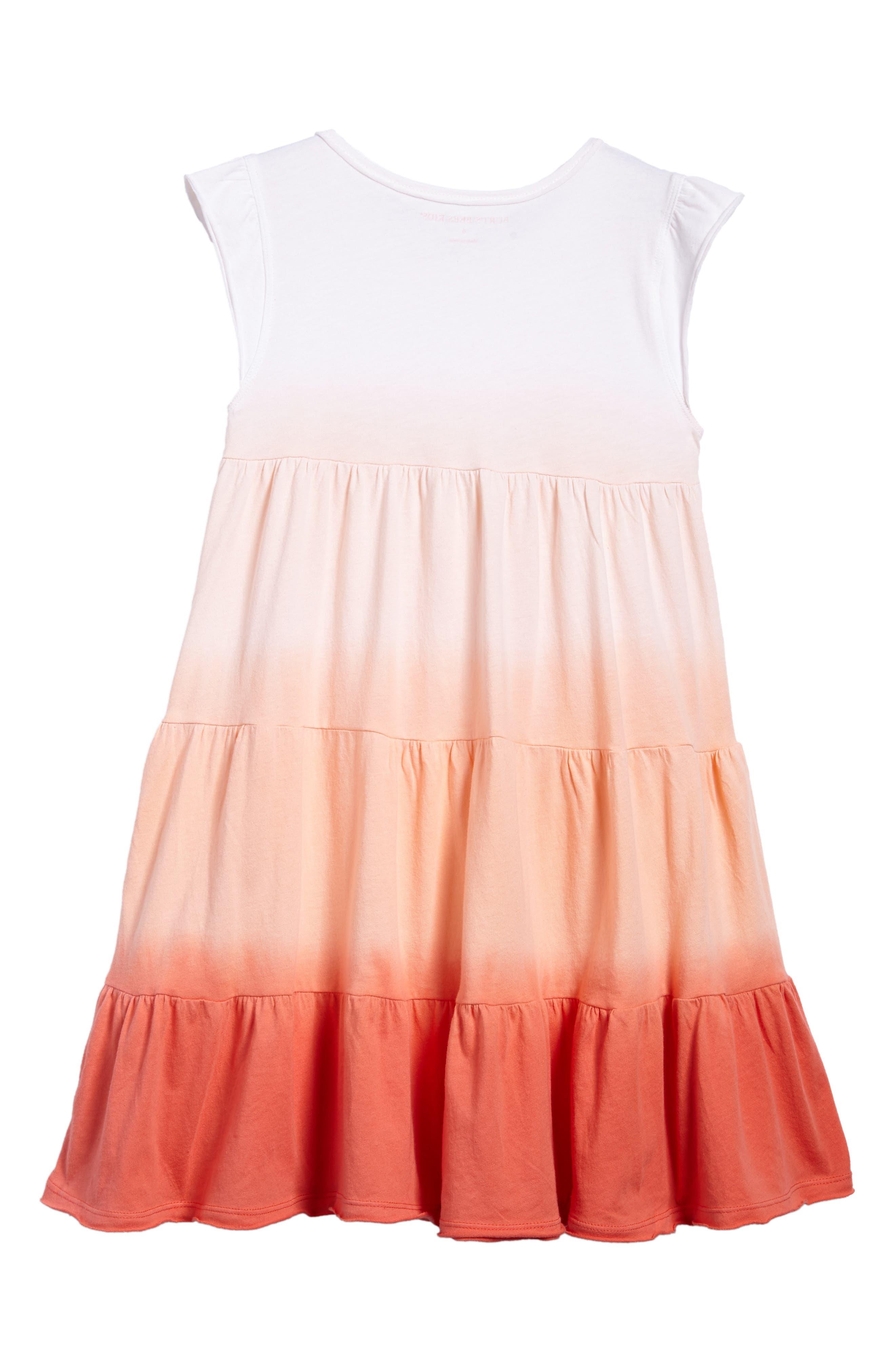 Alternate Image 2  - Burt's Bees Baby Dip Dye Organic Cotton Dress (Toddler Girls & Little Girls)