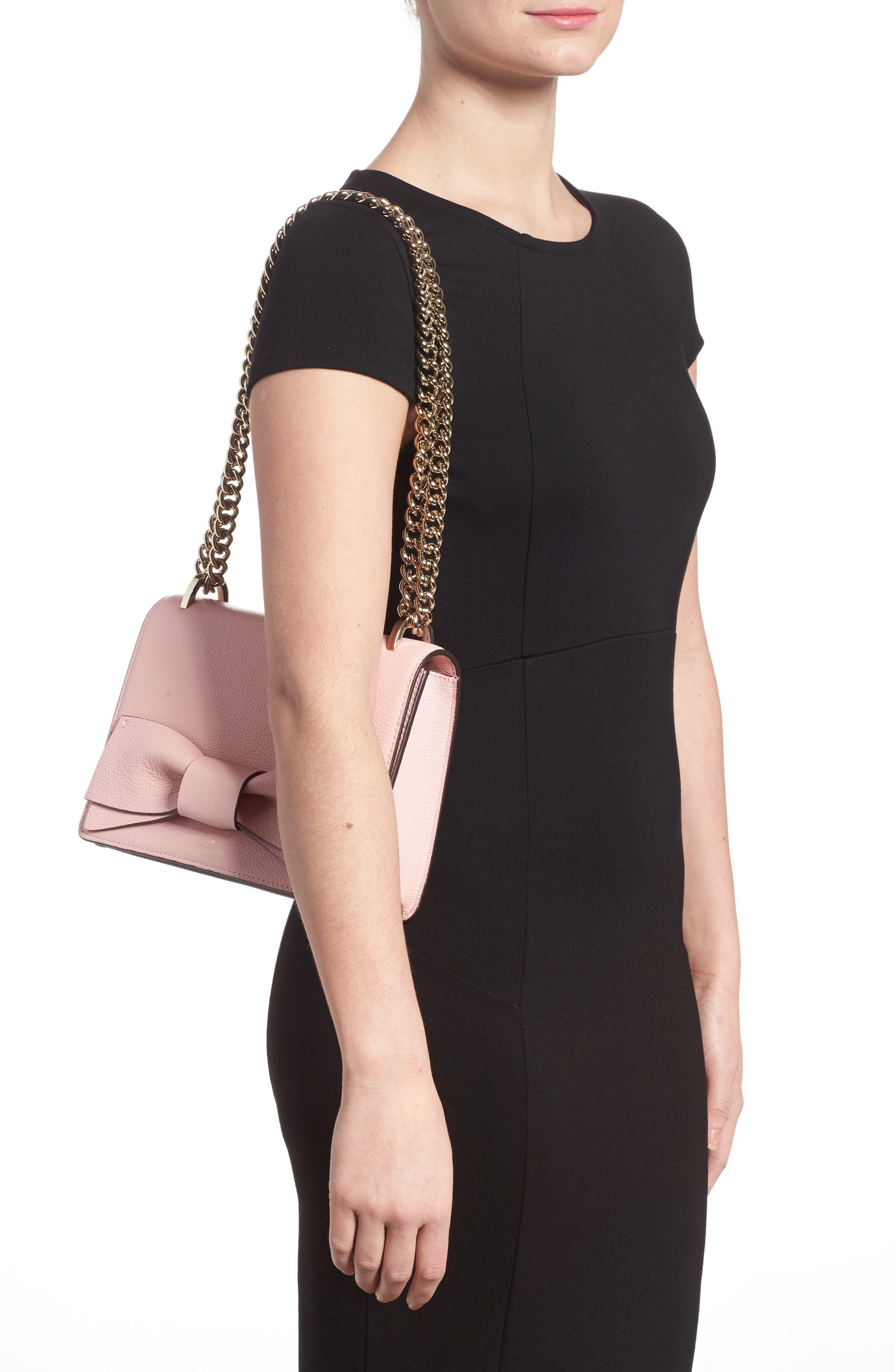 olive drive - marci leather shoulder bag,                             Alternate thumbnail 2, color,                             Rose Jade