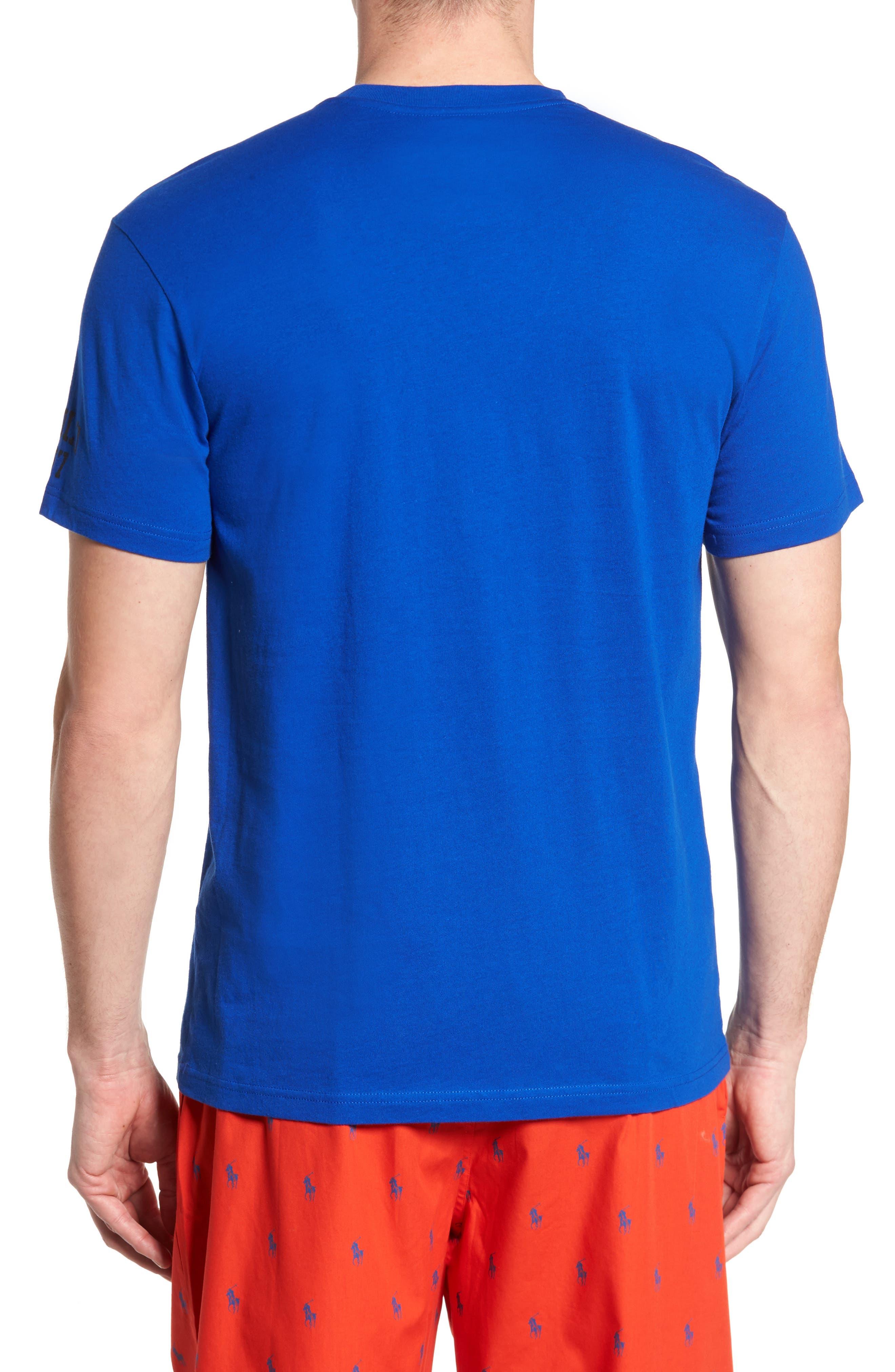Polo Ralph Lauren Crewneck T-Shirt,                             Alternate thumbnail 2, color,                             Sapphire Star/ Crescent Cream