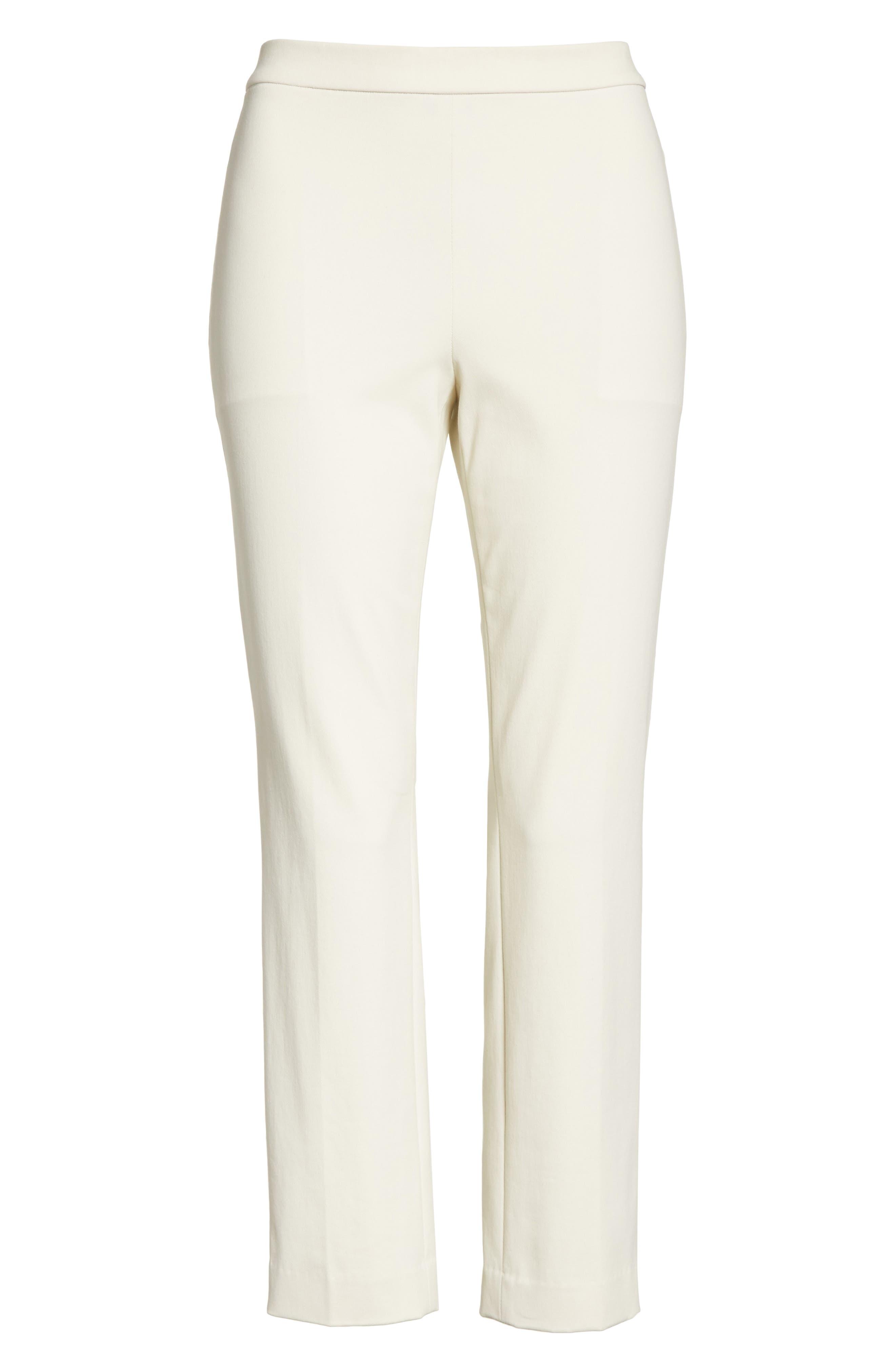 Basic Pull-On Pants,                             Alternate thumbnail 6, color,                             Ivory