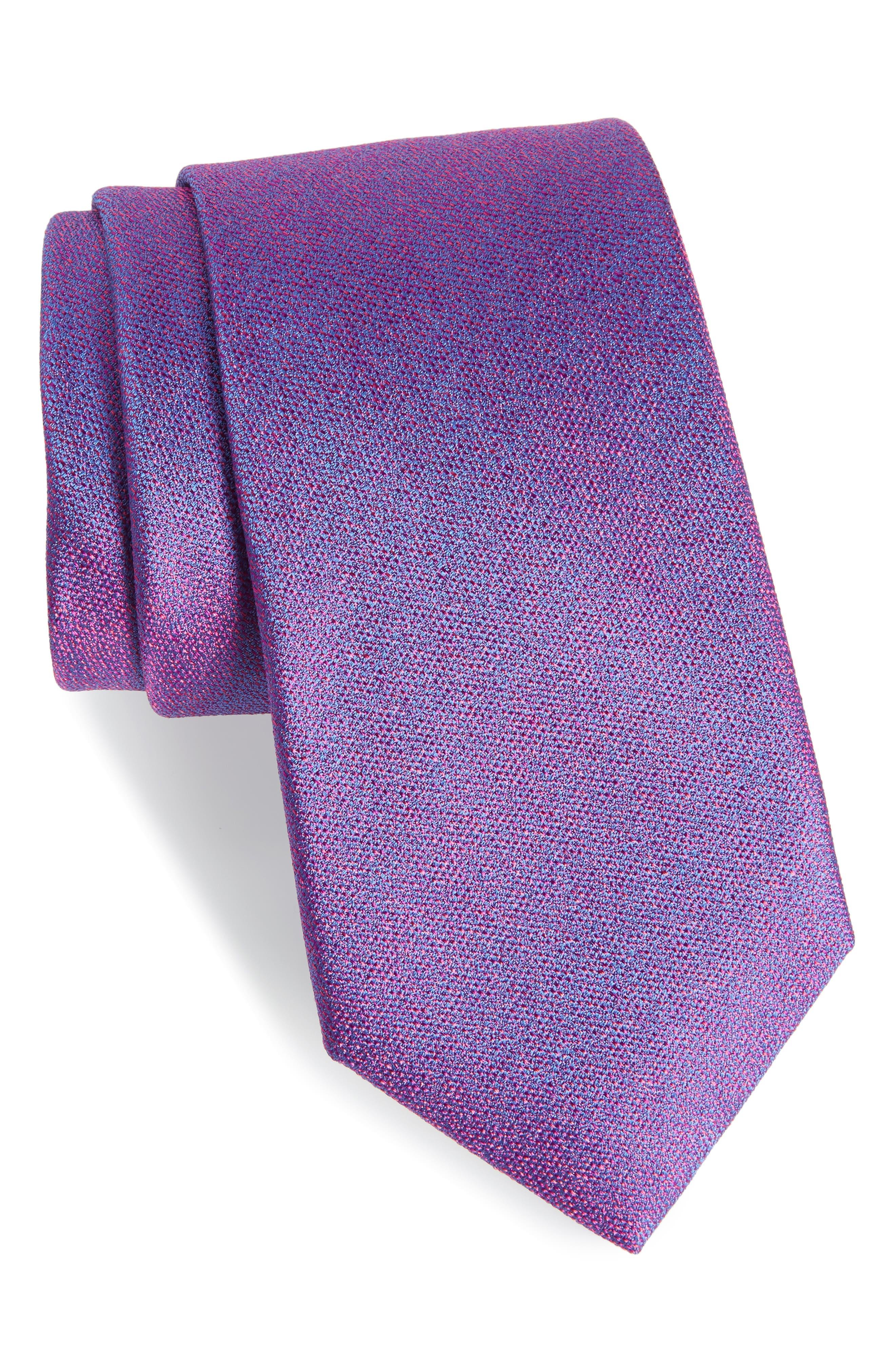 Blue Wrap Silk Tie,                         Main,                         color, Magenta