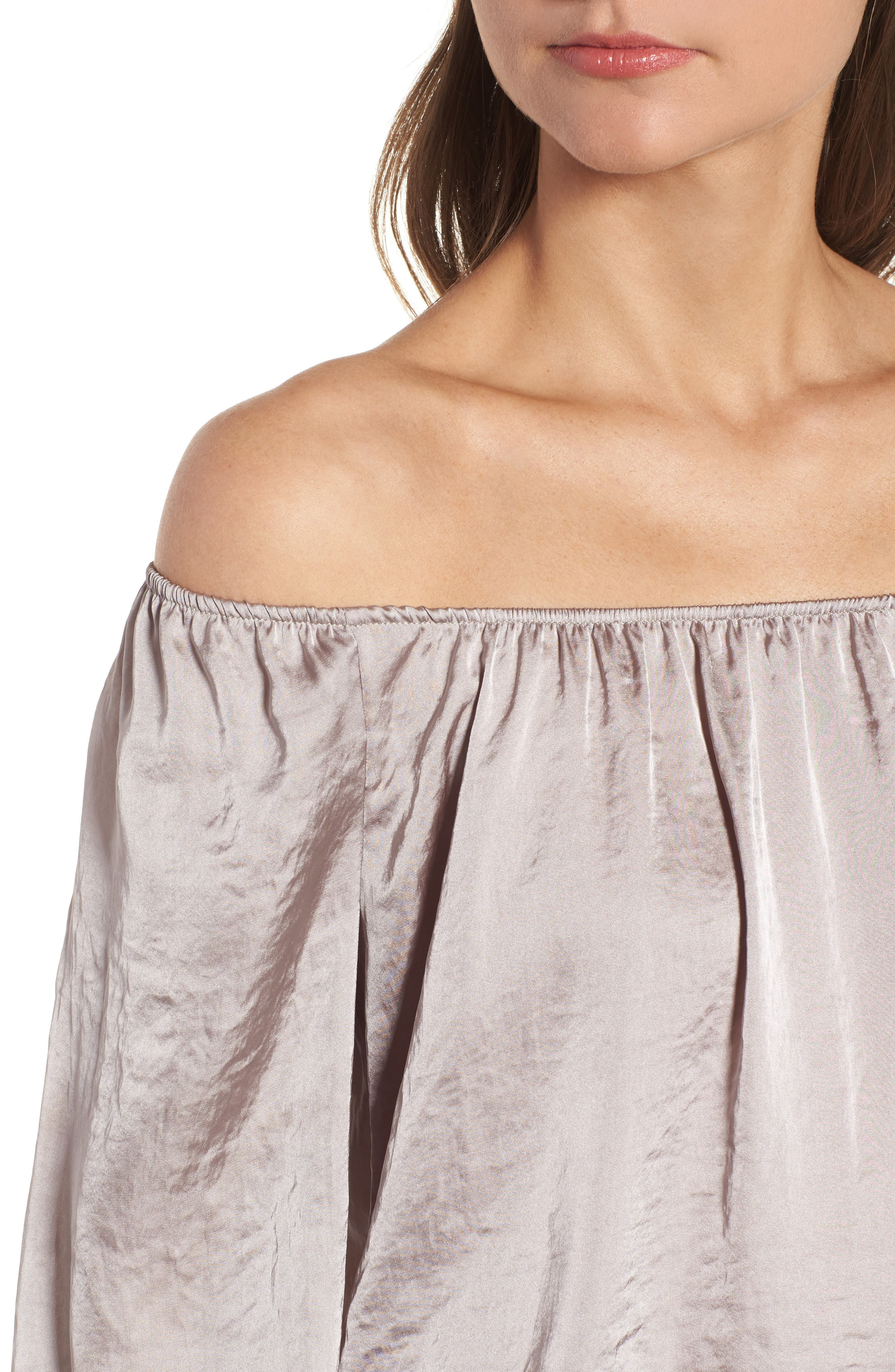 Working Title Satin Top,                             Alternate thumbnail 4, color,                             Taupe