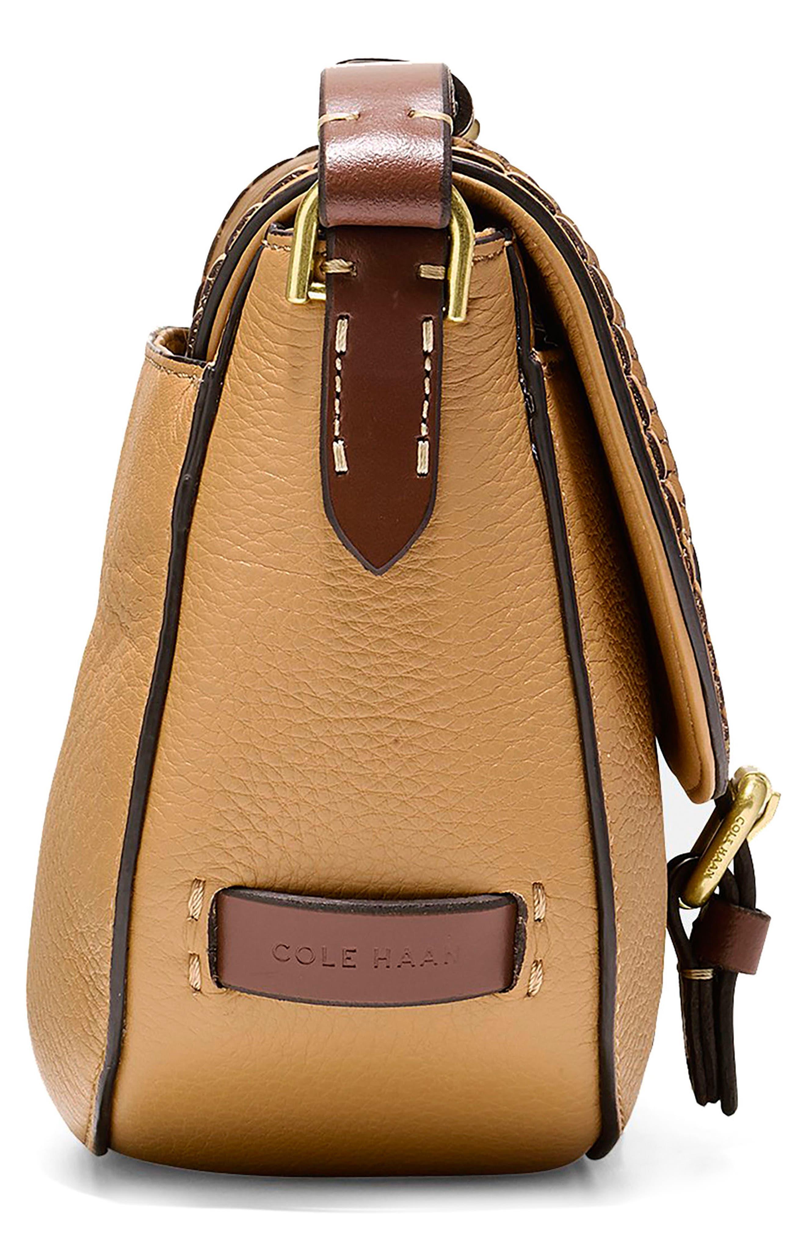 Alternate Image 4  - Cole Haan Mini Loralie Whipstitch Leather Saddle Bag