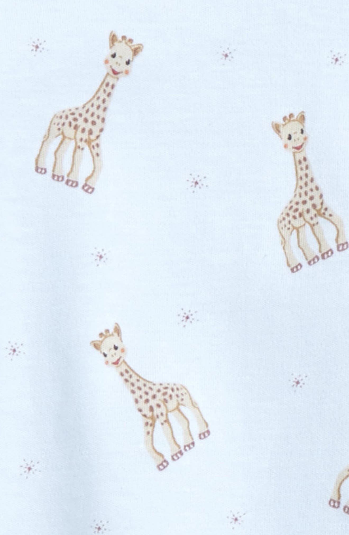 Sophie la Girafe Fitted Two-Piece Pajamas,                             Alternate thumbnail 2, color,                             Light Blue Print