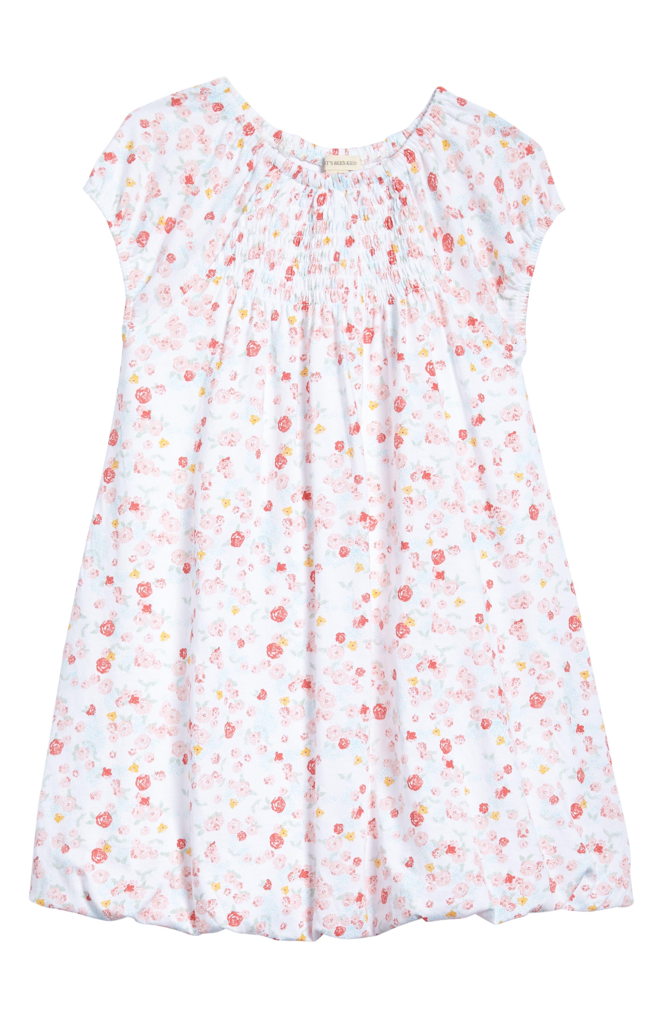 Ditsy Floral Print Bubble Dress,                         Main,                         color, Cloud