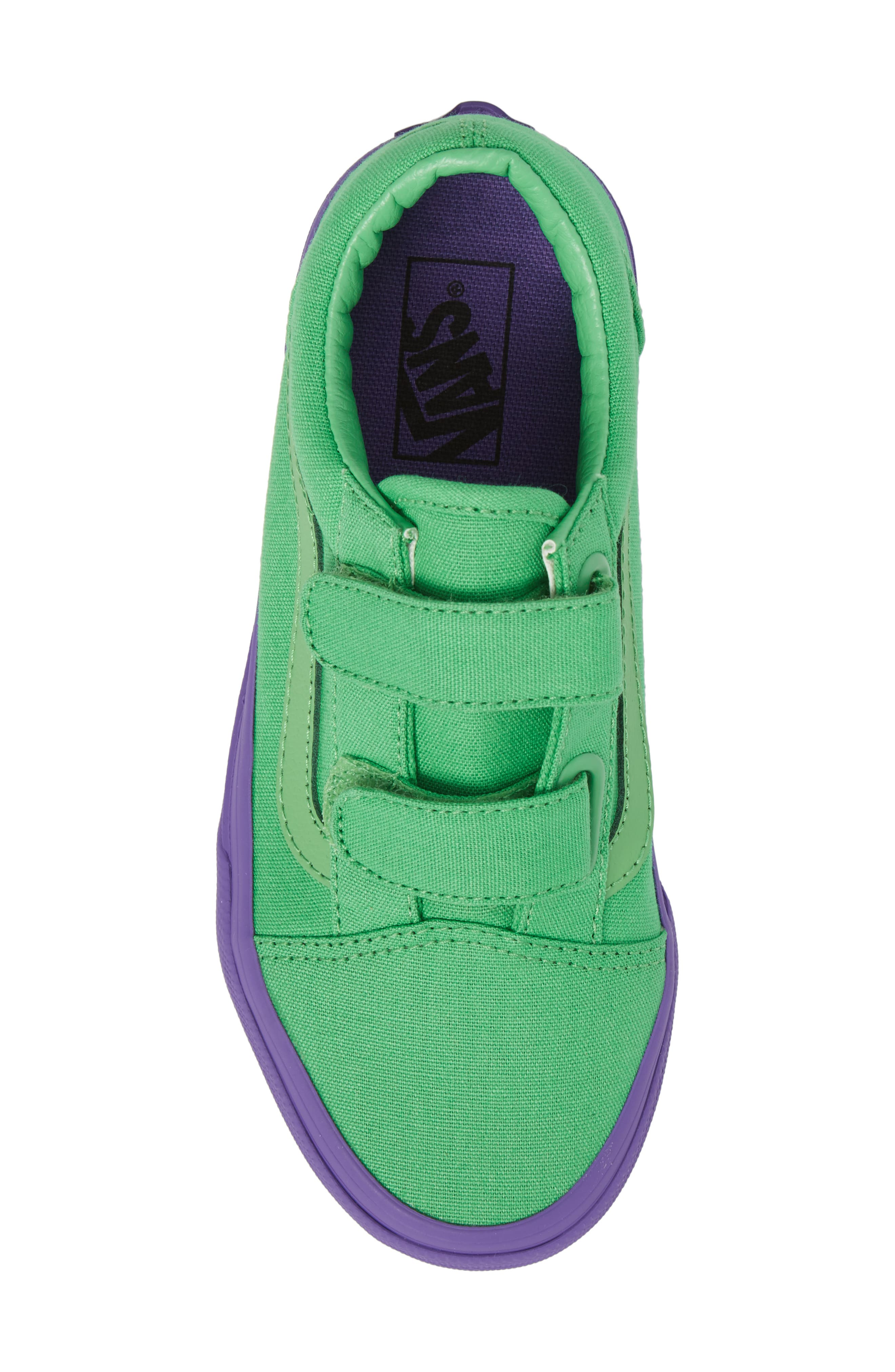 Old Skool V Sneaker,                             Alternate thumbnail 5, color,                             Green/ Purple Cosplay