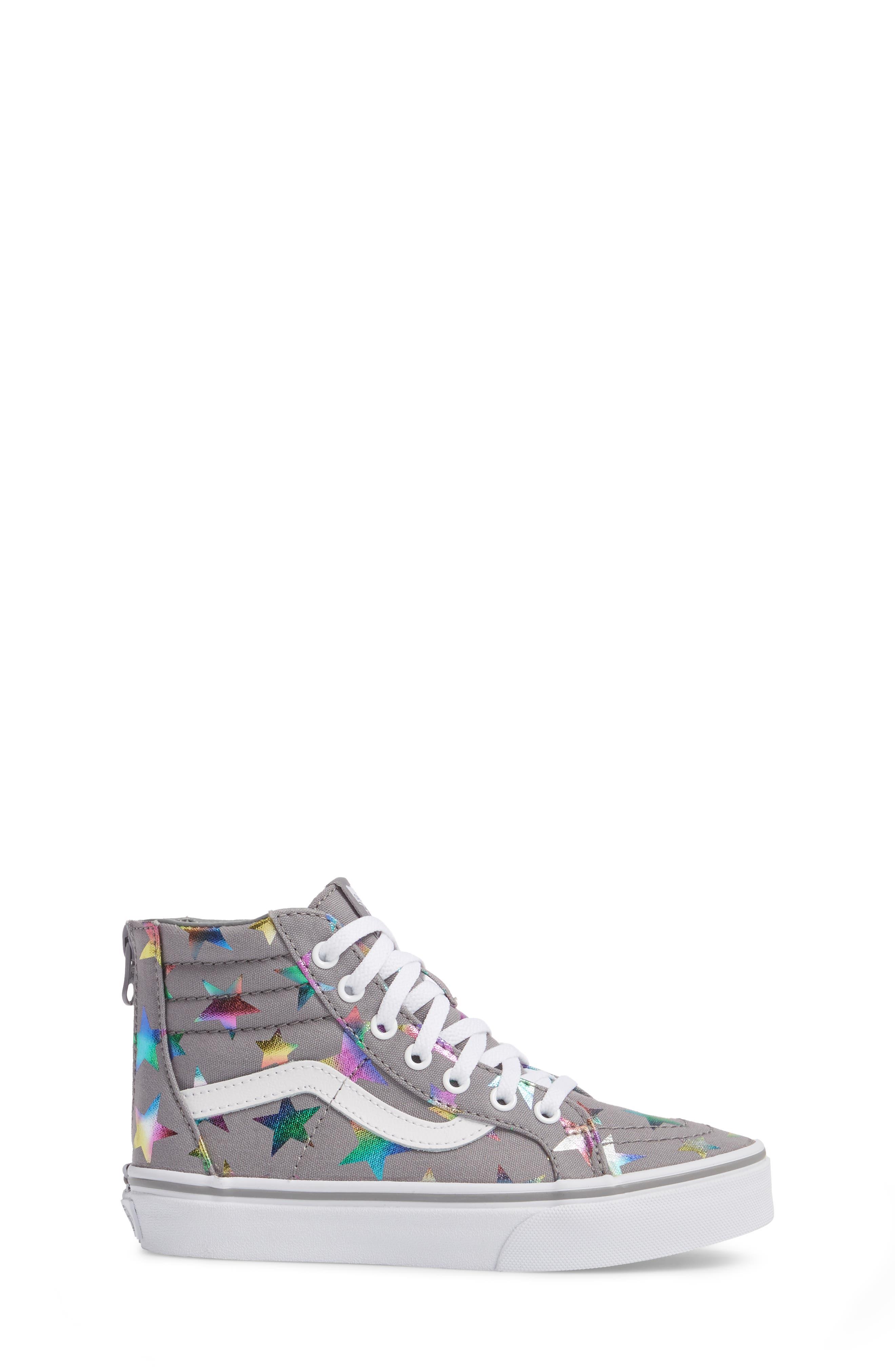Alternate Image 3  - Vans Sk8-Hi Zip Star Print High Top Sneaker (Baby, Walker, Toddler, Little Kid & Big Kid)