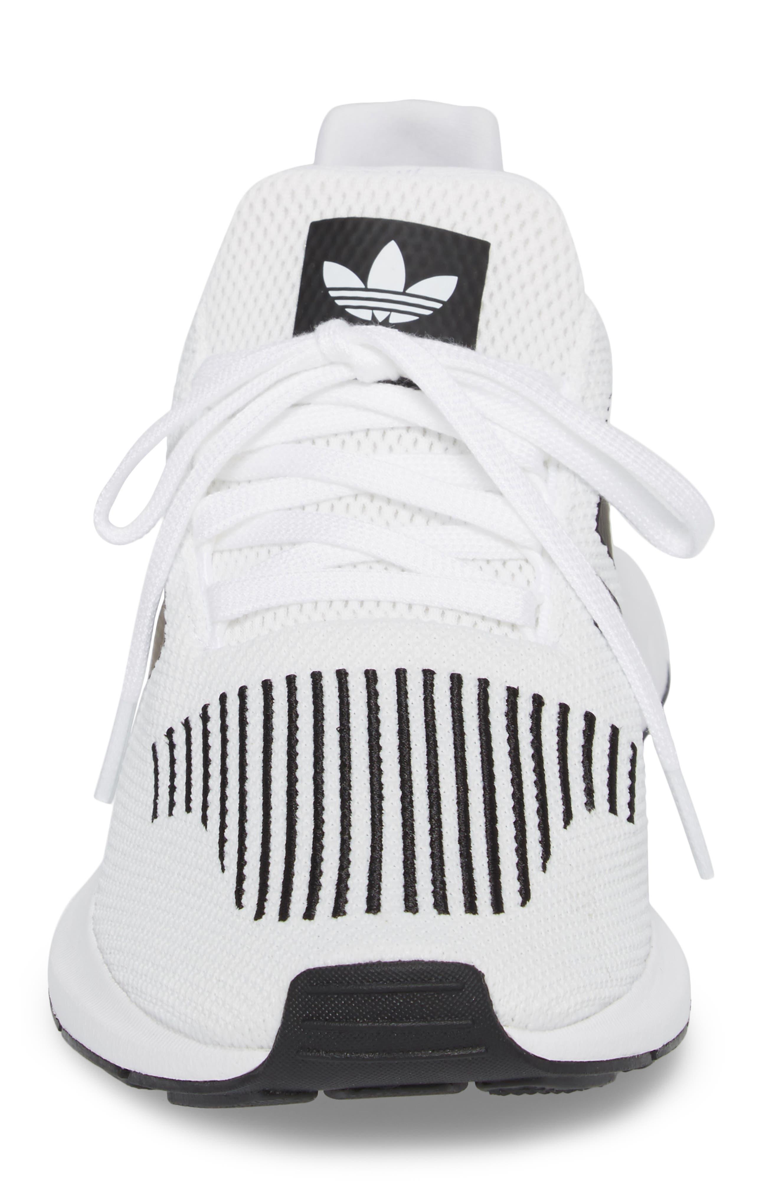 Swift Run Sneaker,                             Alternate thumbnail 4, color,                             White/ Core Black/ Grey