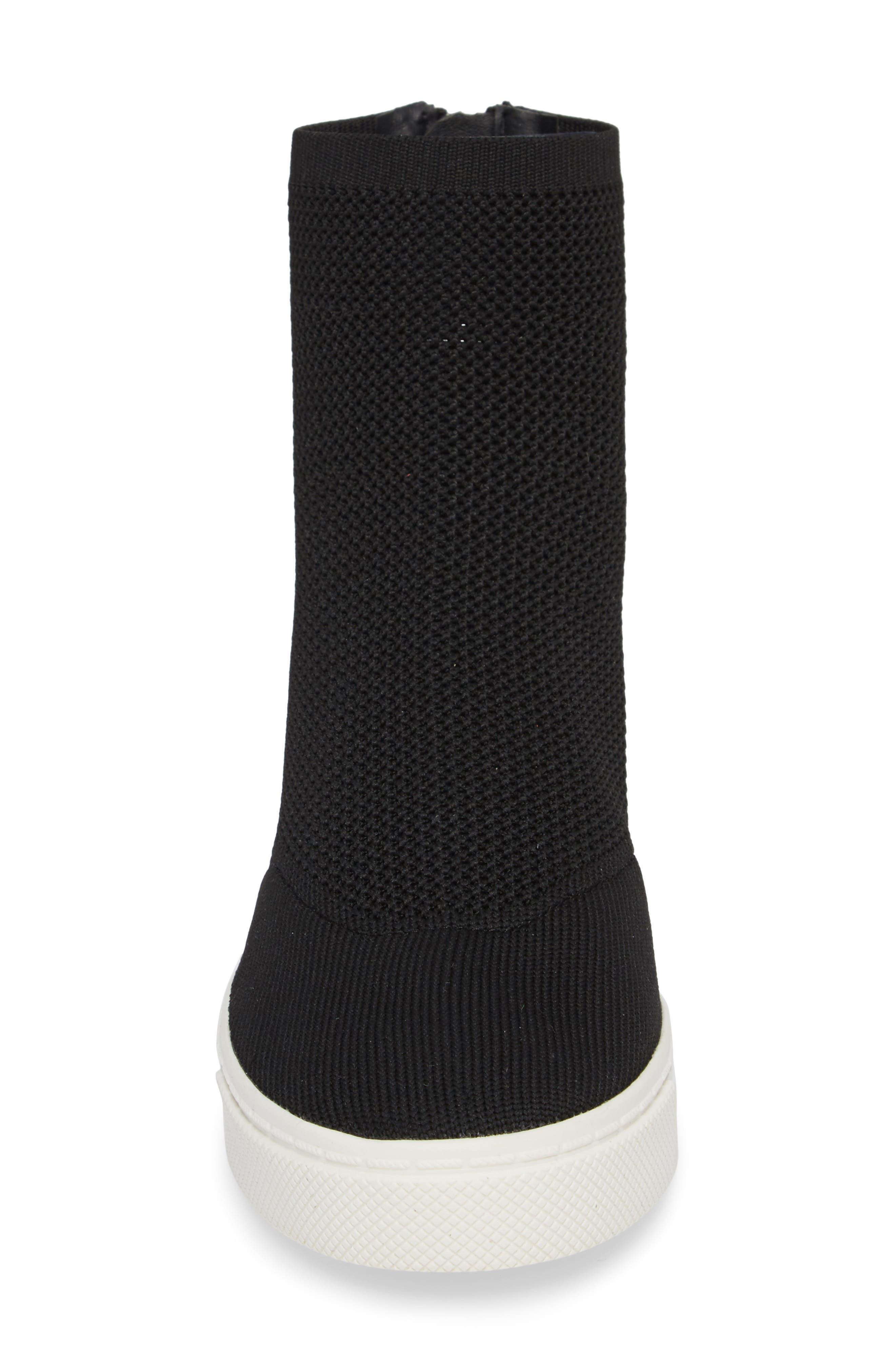 Lizzy Sneaker Bootie,                             Alternate thumbnail 4, color,                             Black
