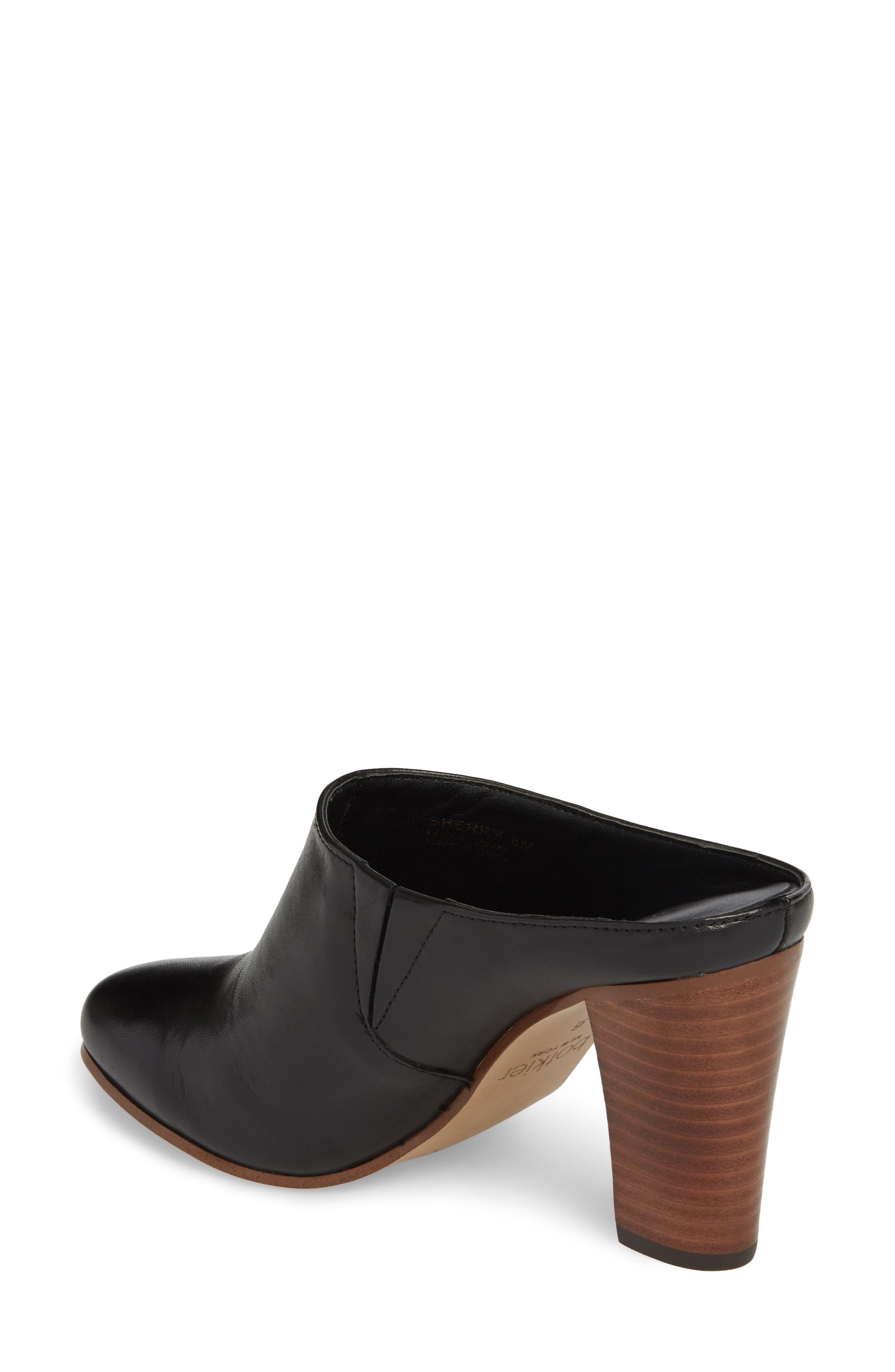 Sherry Mule,                             Alternate thumbnail 2, color,                             Black Nappa Leather