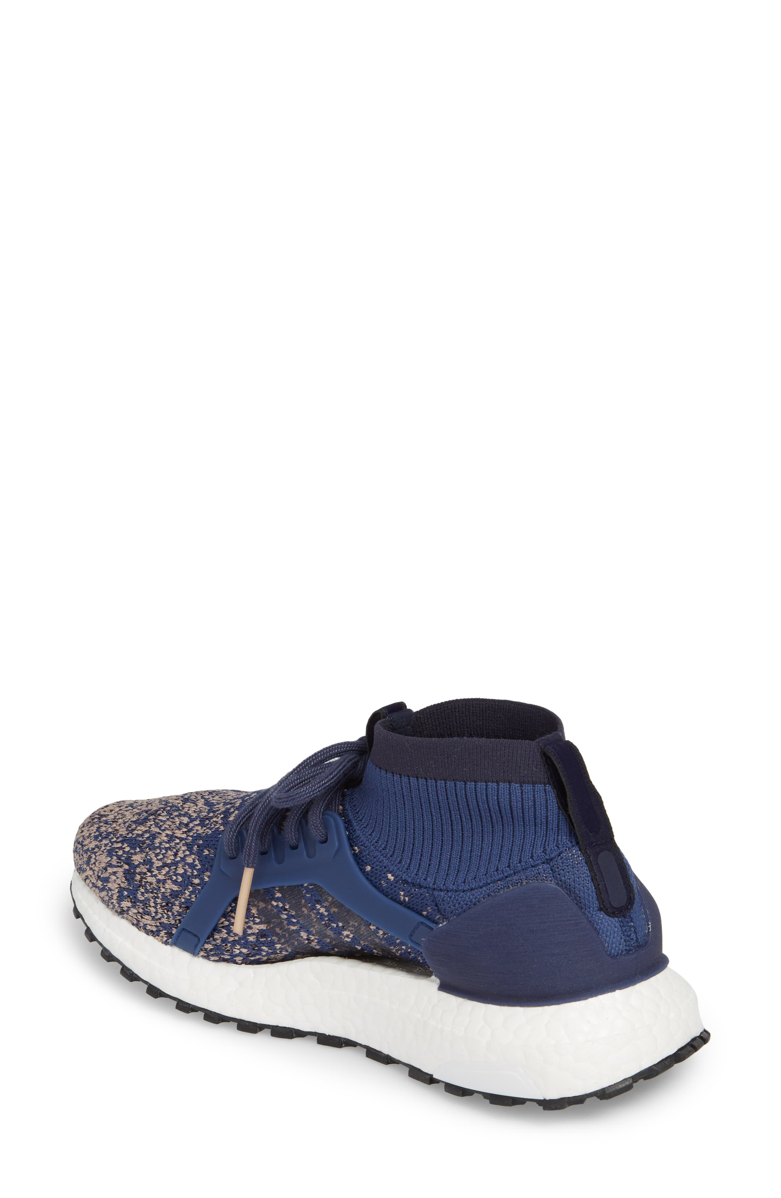 UltraBoost X All Terrain Water Resistant Running Shoe,                             Alternate thumbnail 2, color,                             Noble Indigo/ Noble Indigo