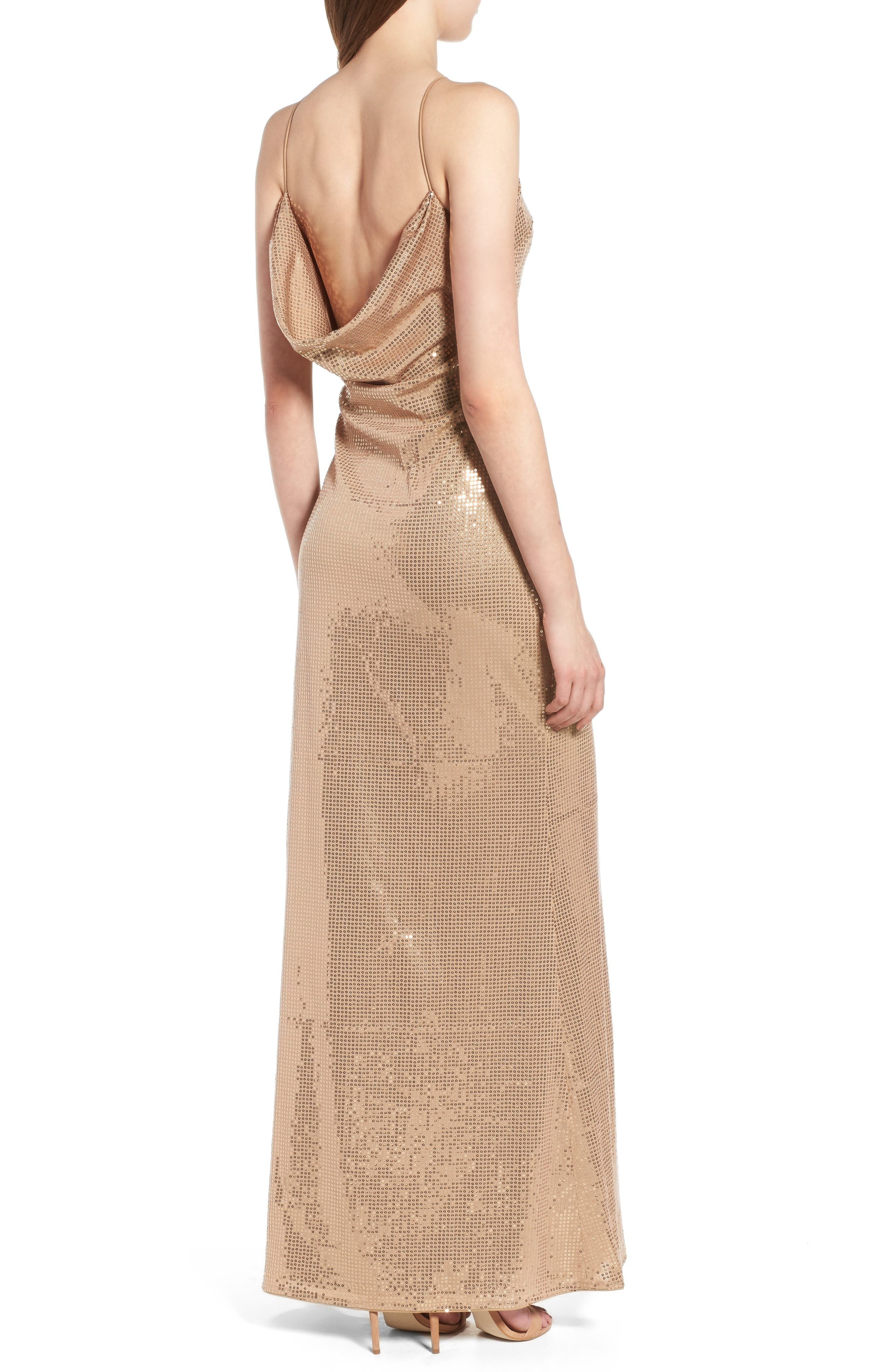 Jacket Halter Gown,                             Alternate thumbnail 2, color,                             Taupe