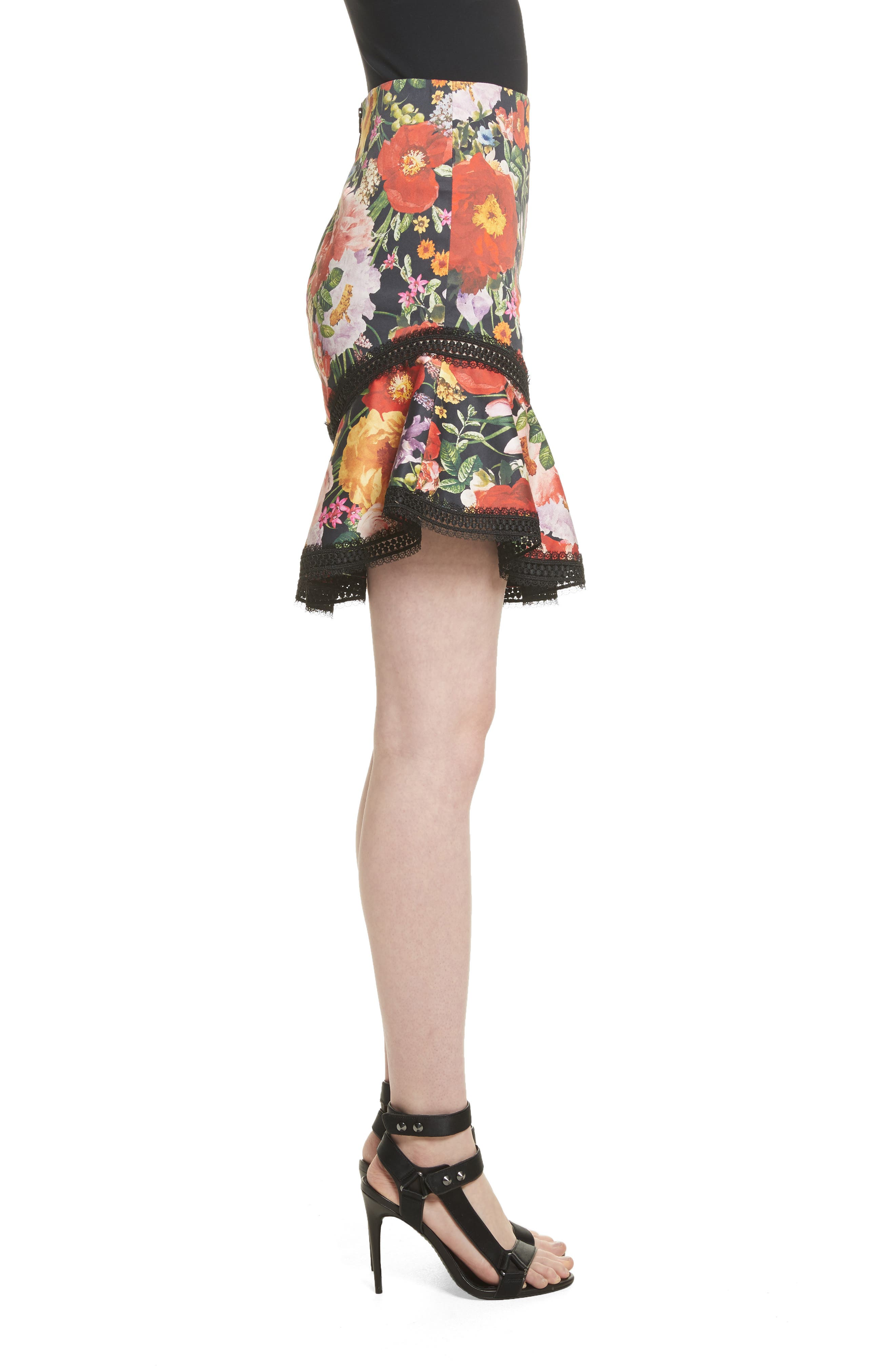 Floral Skirt,                             Alternate thumbnail 3, color,                             Blooming Garden