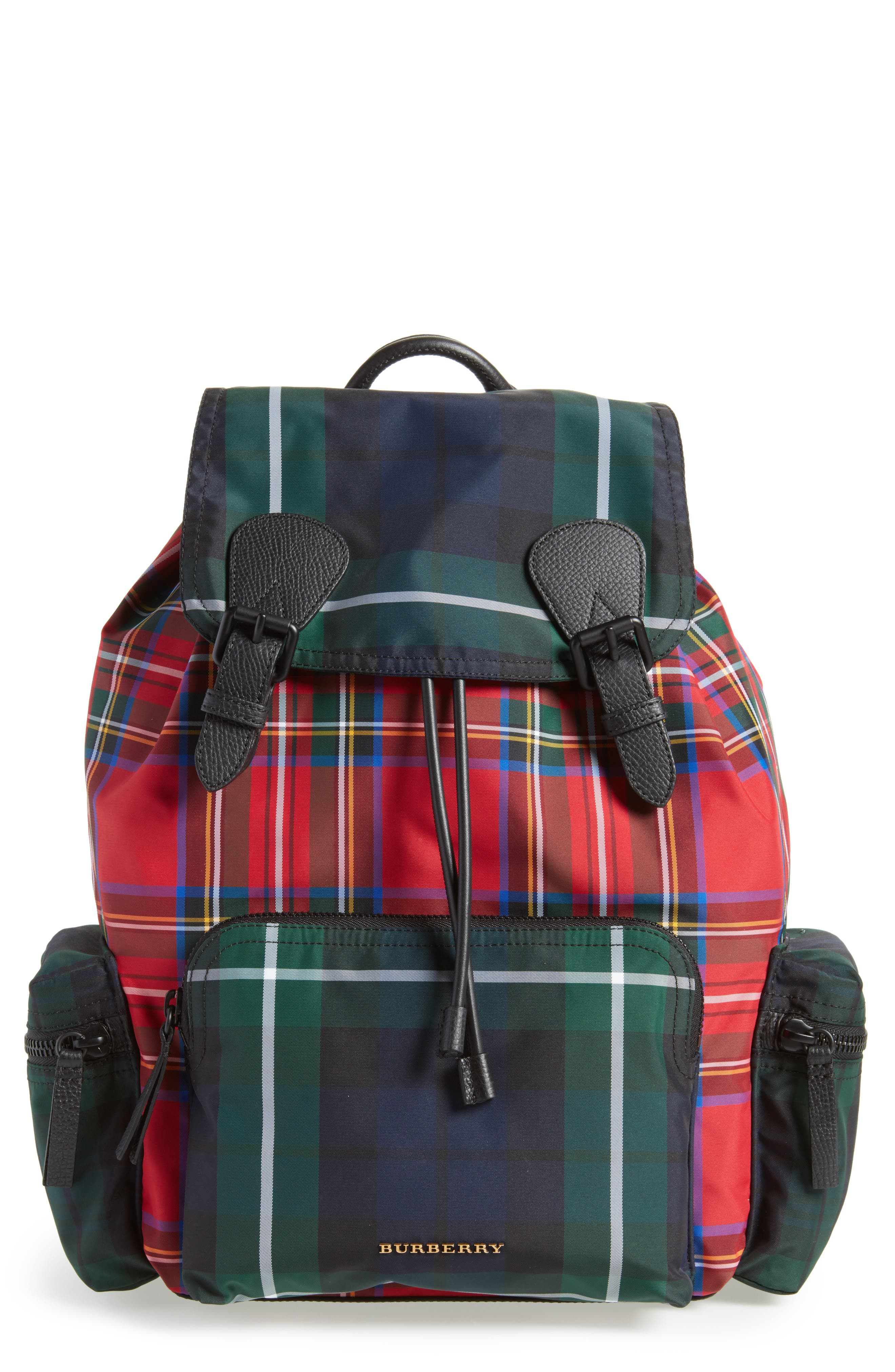 Main Image - Burberry Tartan Patchwork Backpack