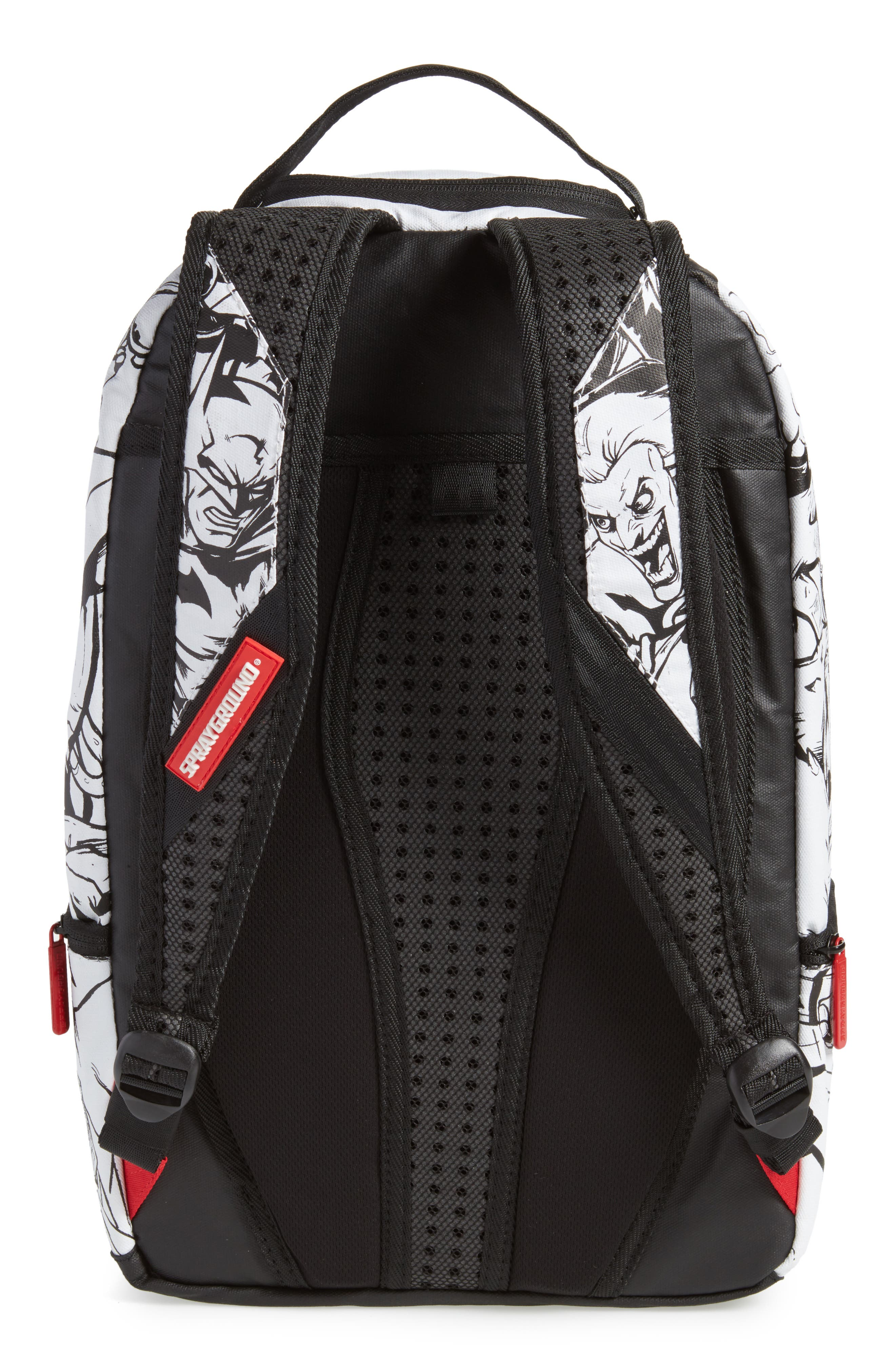 Batman DIY Villains Backpack,                             Alternate thumbnail 3, color,                             Black/ White