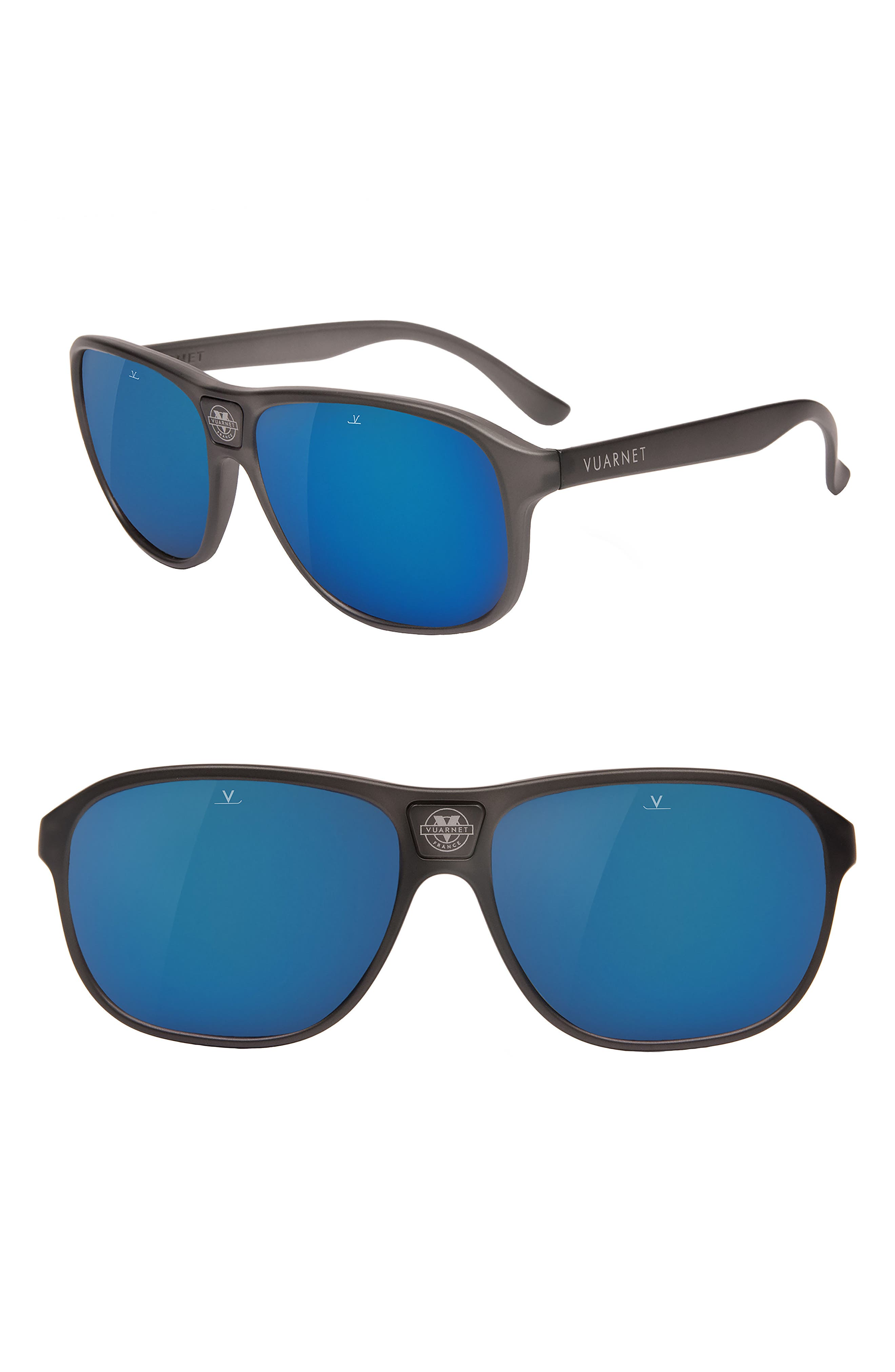 Legends 03 56mm Polarized Sunglasses,                             Main thumbnail 1, color,                             Grey Polar Blue Flash