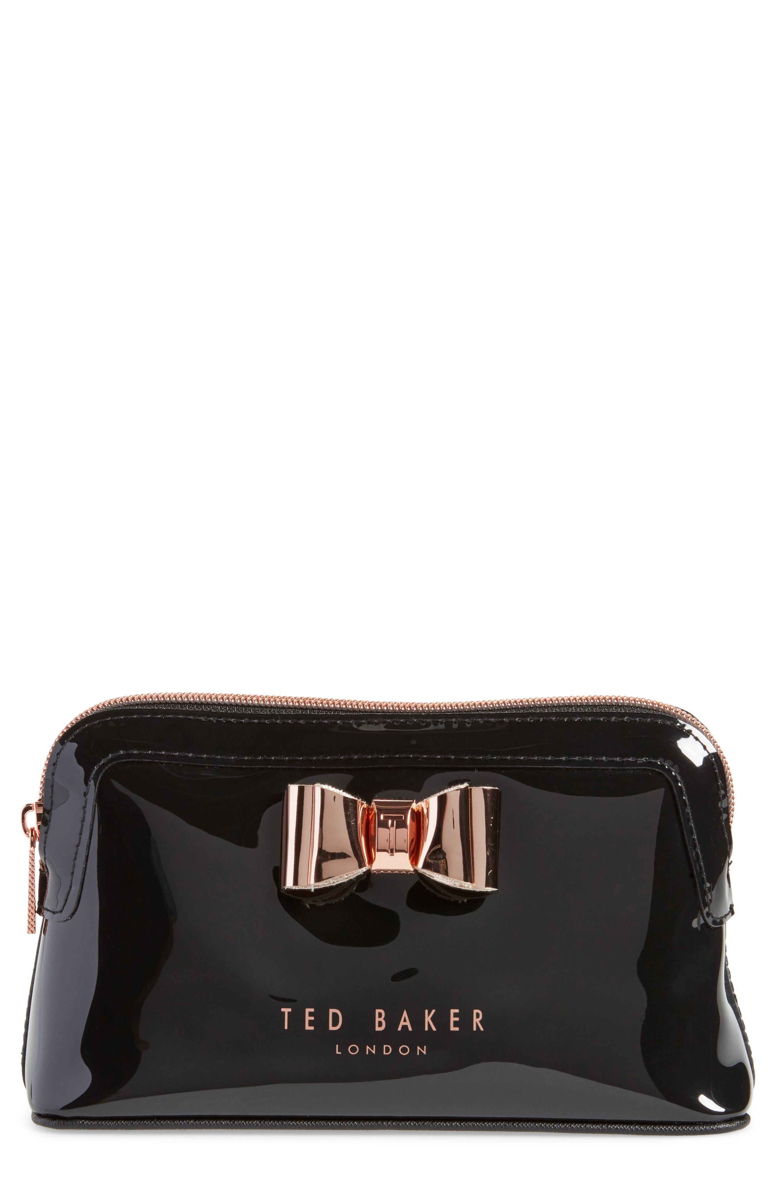 Melynda Cosmetics Case,                         Main,                         color, Black