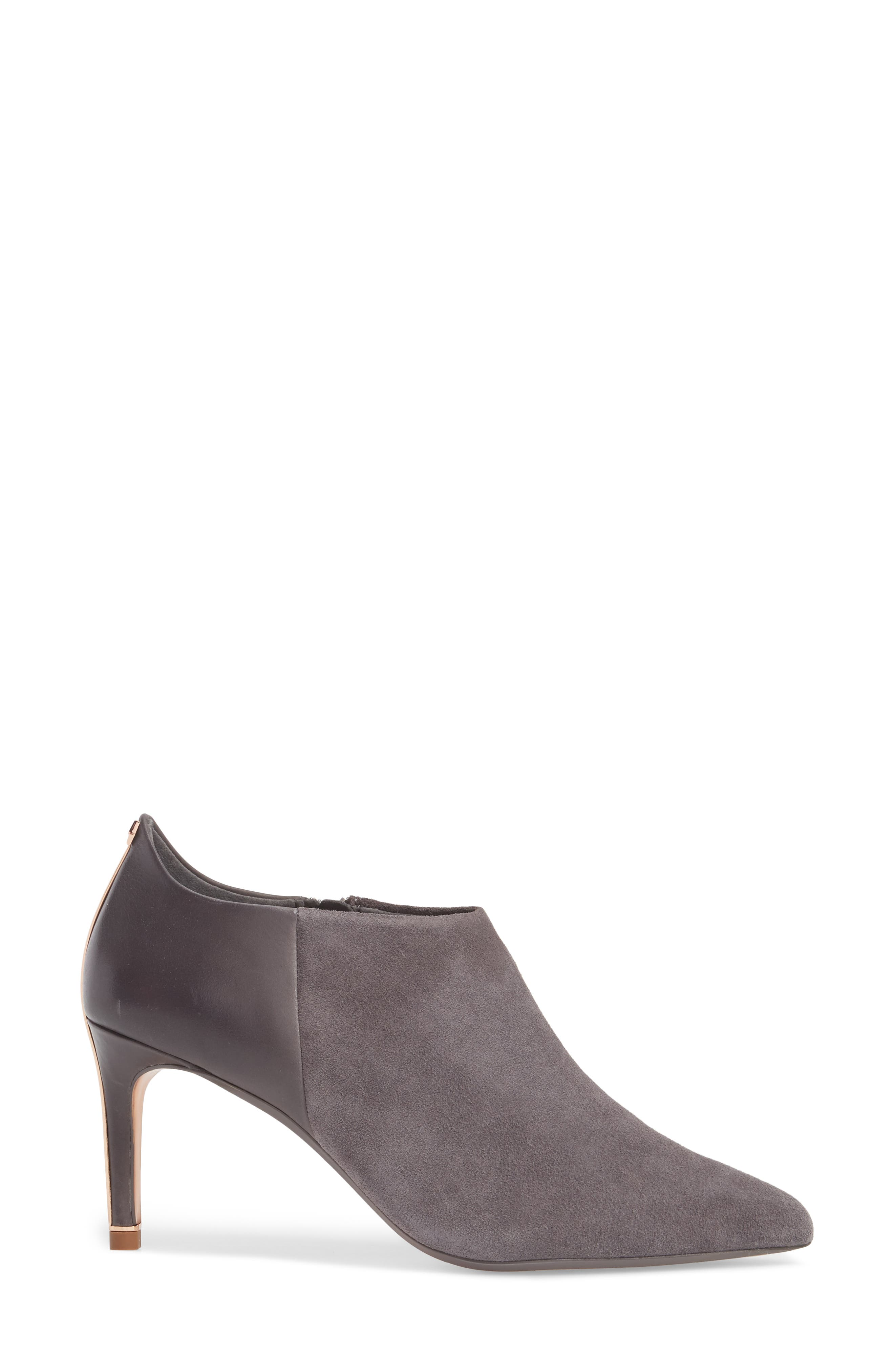 Akasher Bootie,                             Alternate thumbnail 3, color,                             Grey Suede