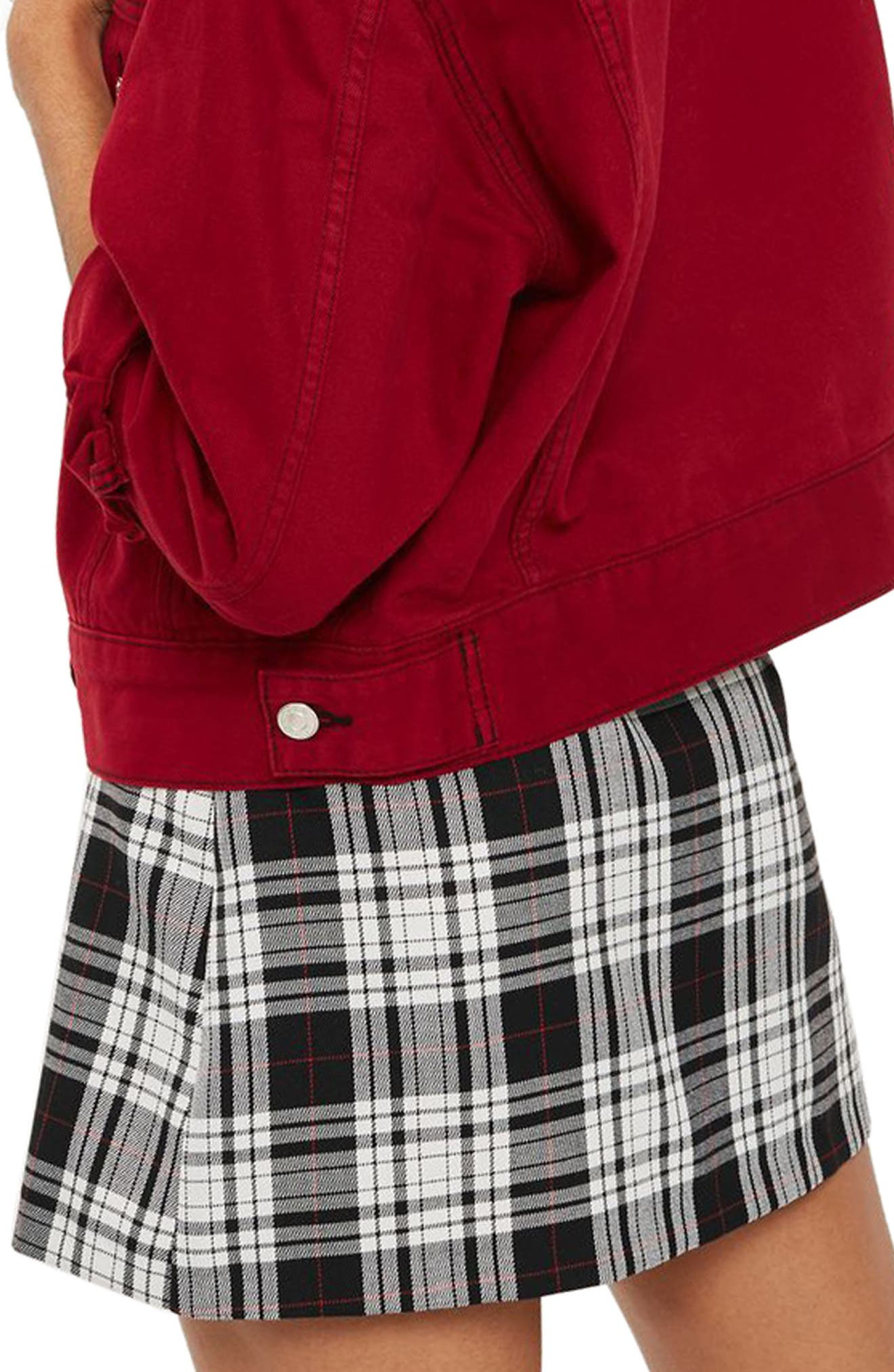 Alternate Image 2  - Topshop Plaid Kilt Miniskirt
