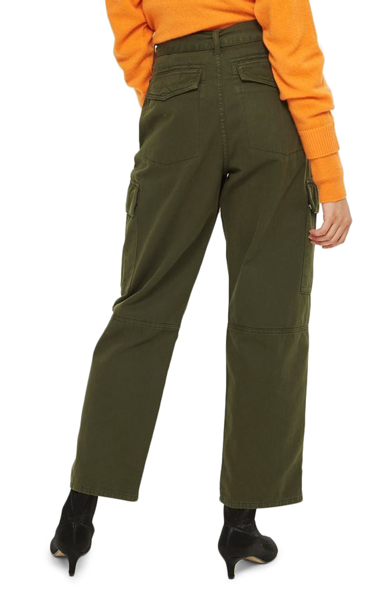 Combat Pocket Utility Trousers,                             Alternate thumbnail 3, color,                             Olive