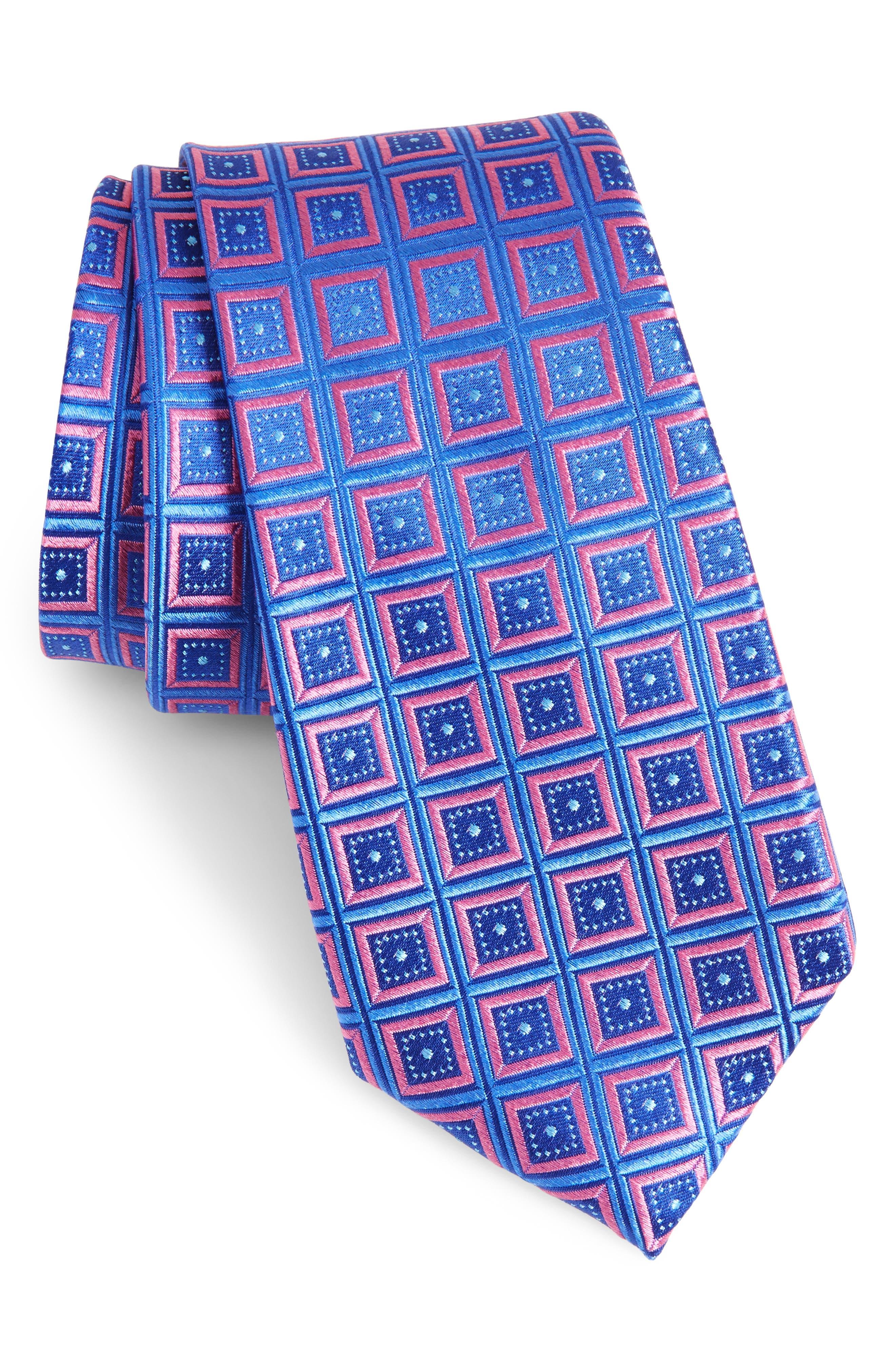 Main Image - Nordstrom Men's Shop Sublime Squares Geometric Silk Tie