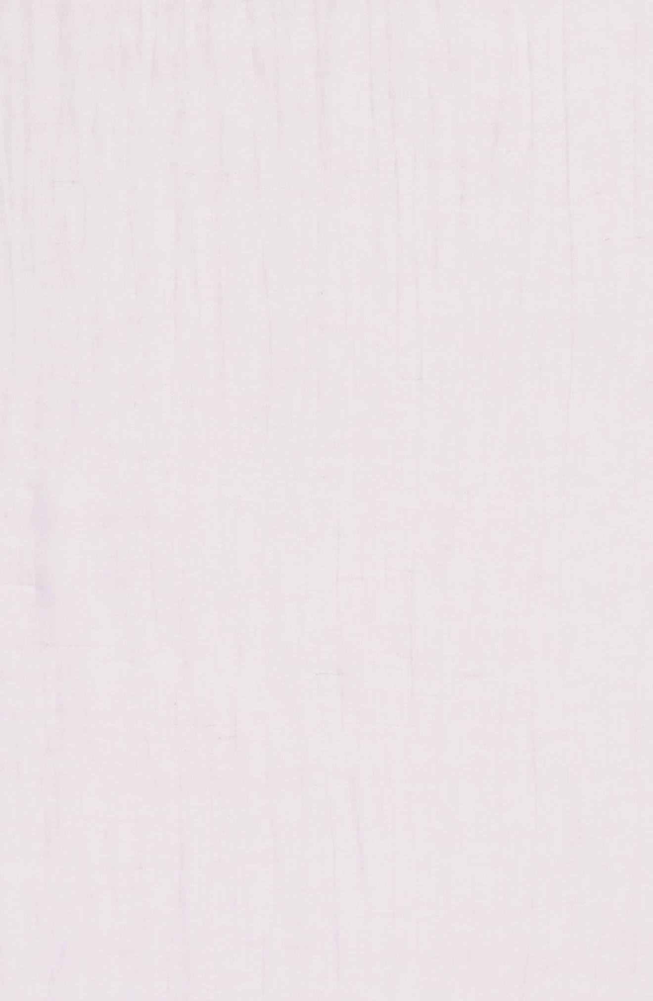 Linen Blend Scarf,                             Alternate thumbnail 3, color,                             Purple Petal