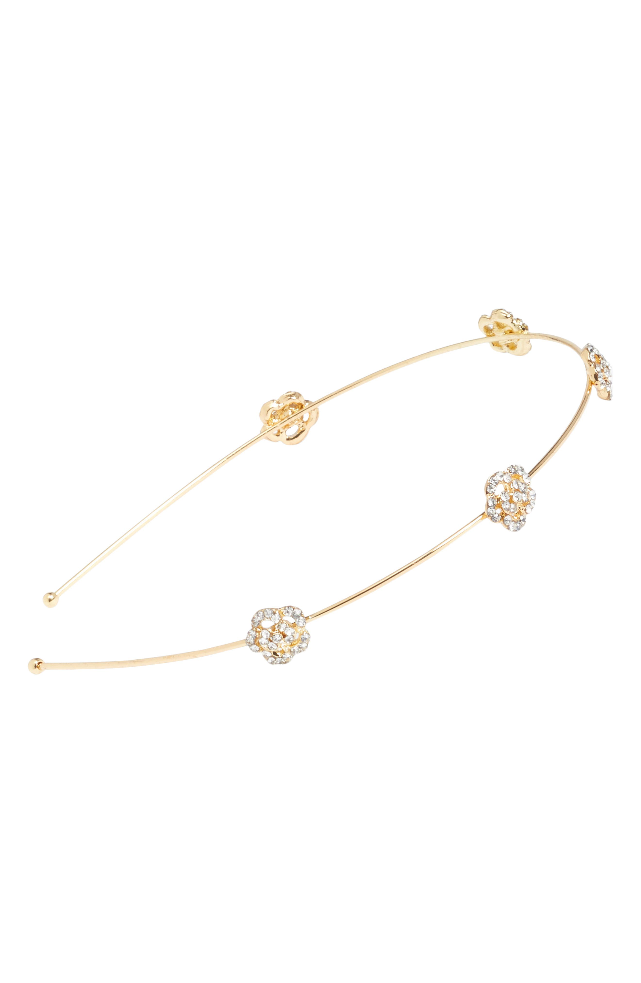 Main Image - Tasha Mini Rose Skinny Headband