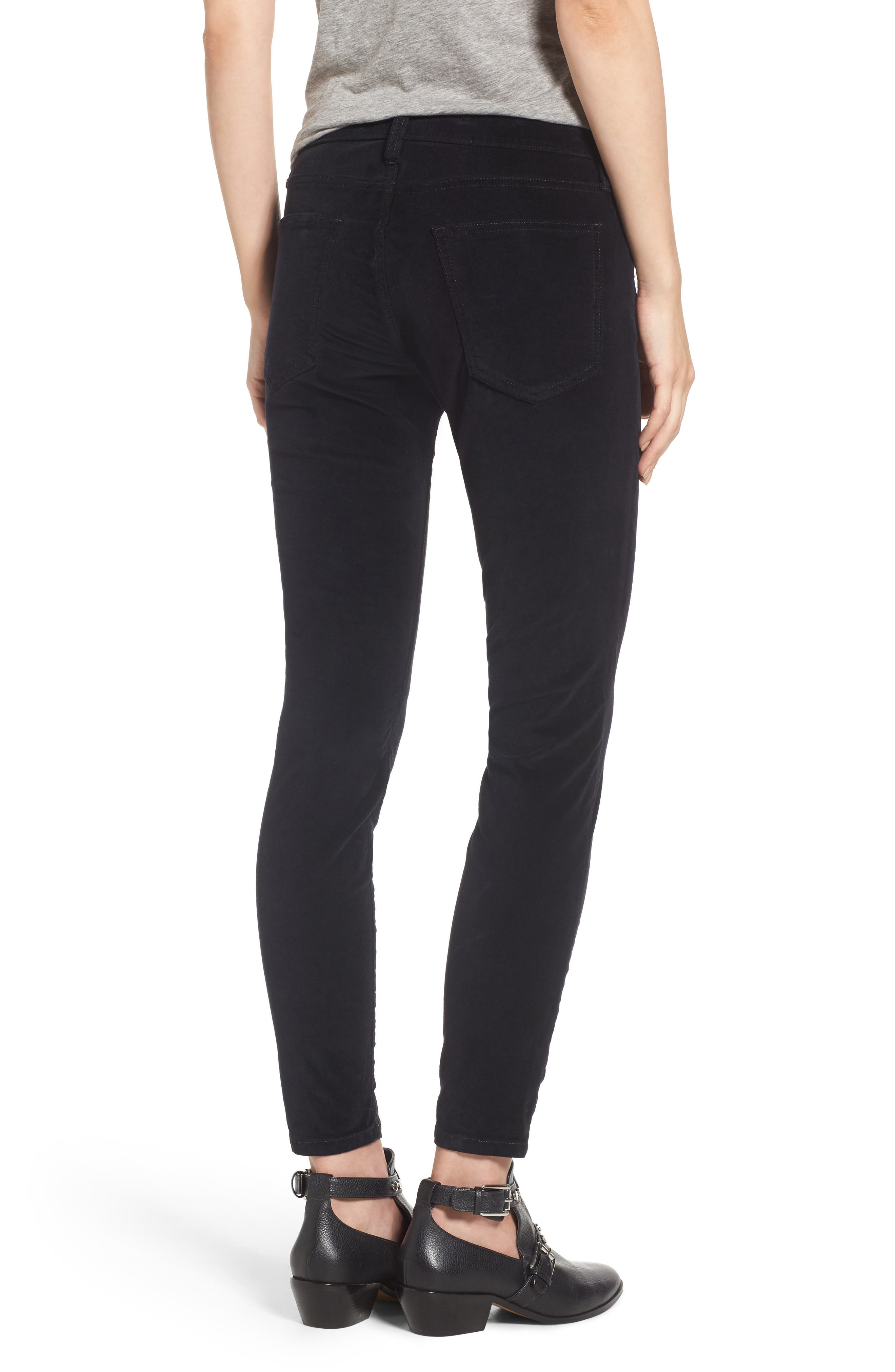 The Stiletto Ankle Skinny Pants,                             Alternate thumbnail 2, color,                             Jet Black 2