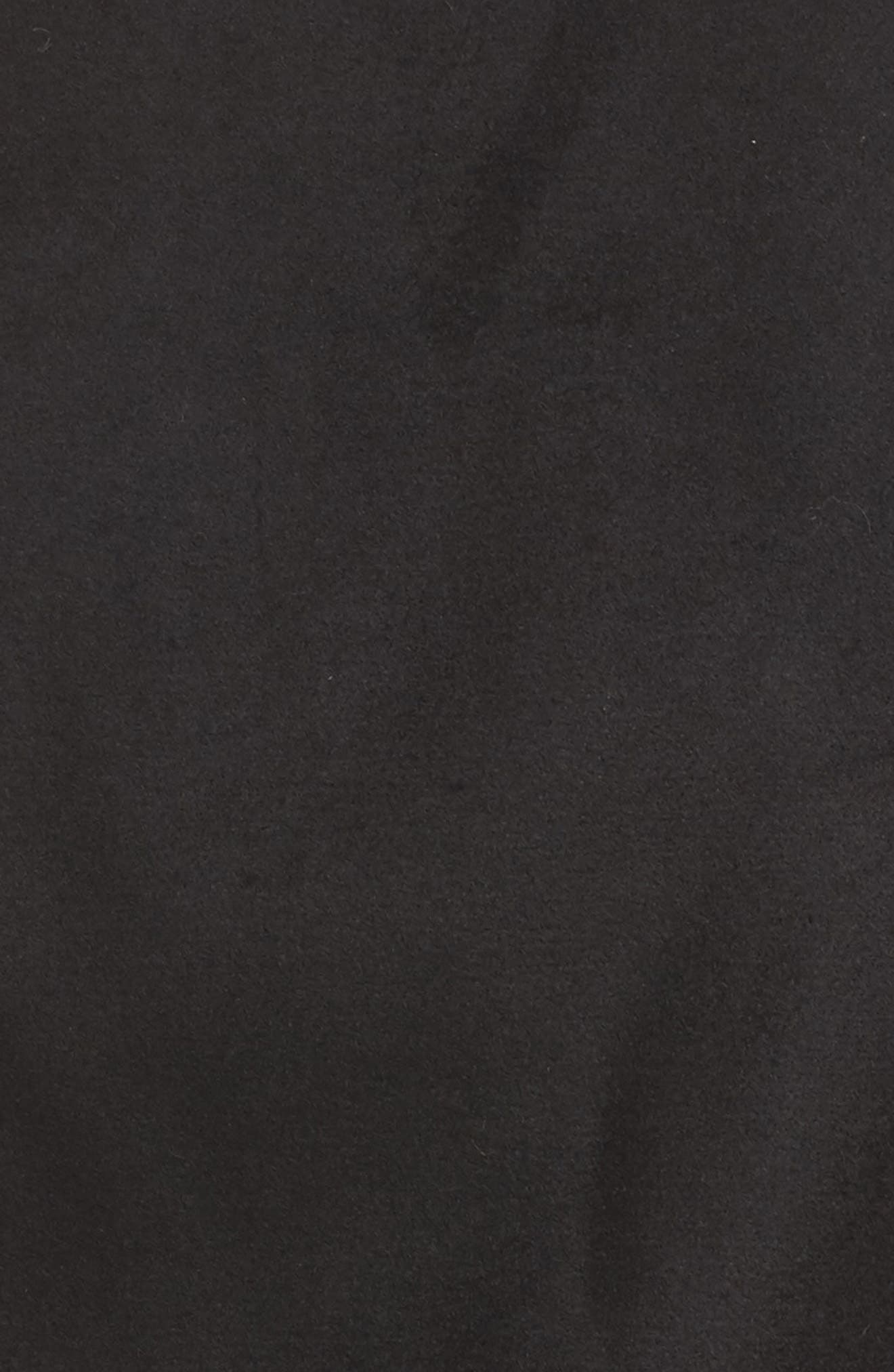 Jacket with Faux Fur Trim,                             Alternate thumbnail 5, color,                             Black