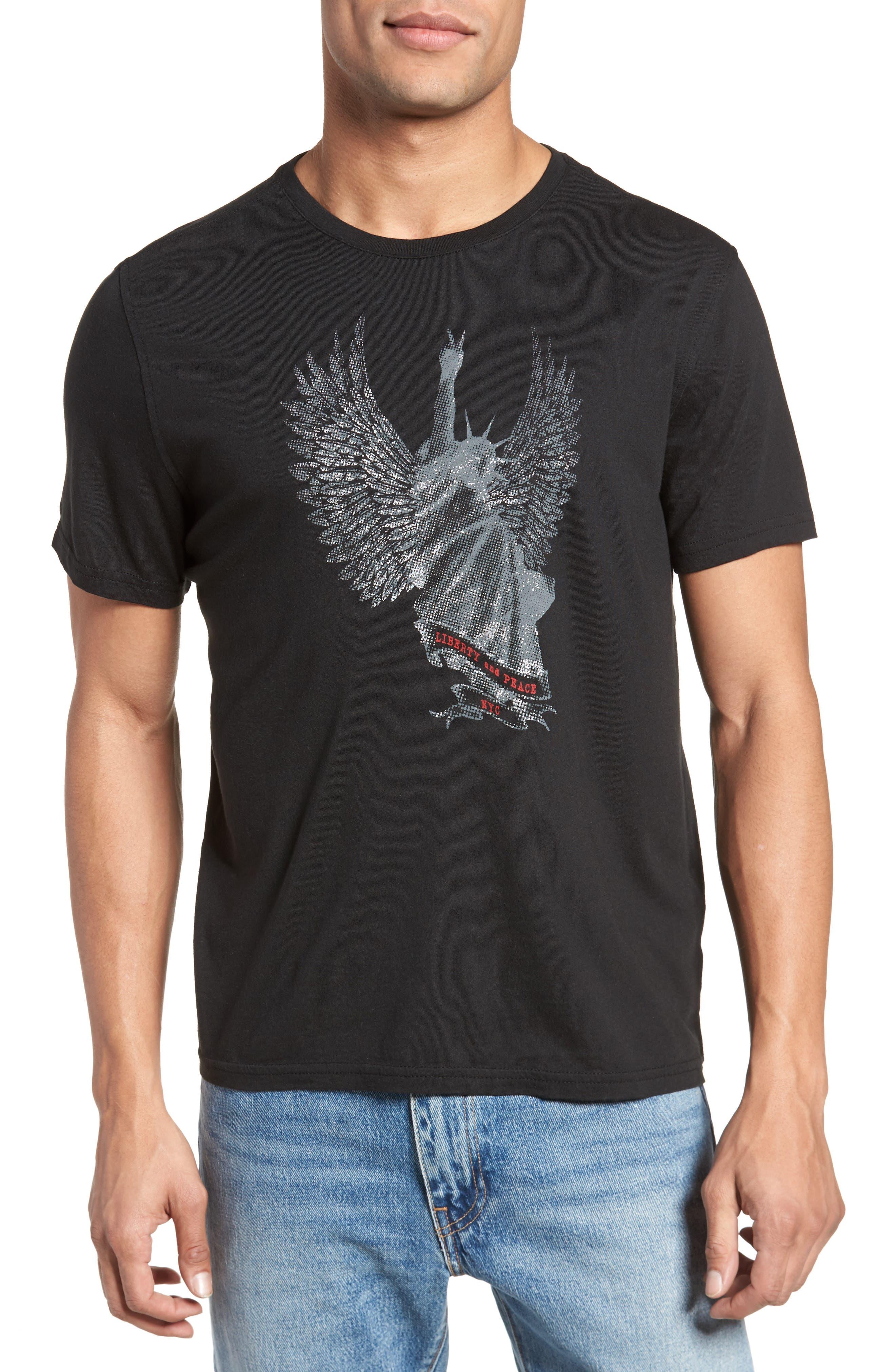 Main Image - John Varvatos Star USA Liberty Wings Graphic T-Shirt