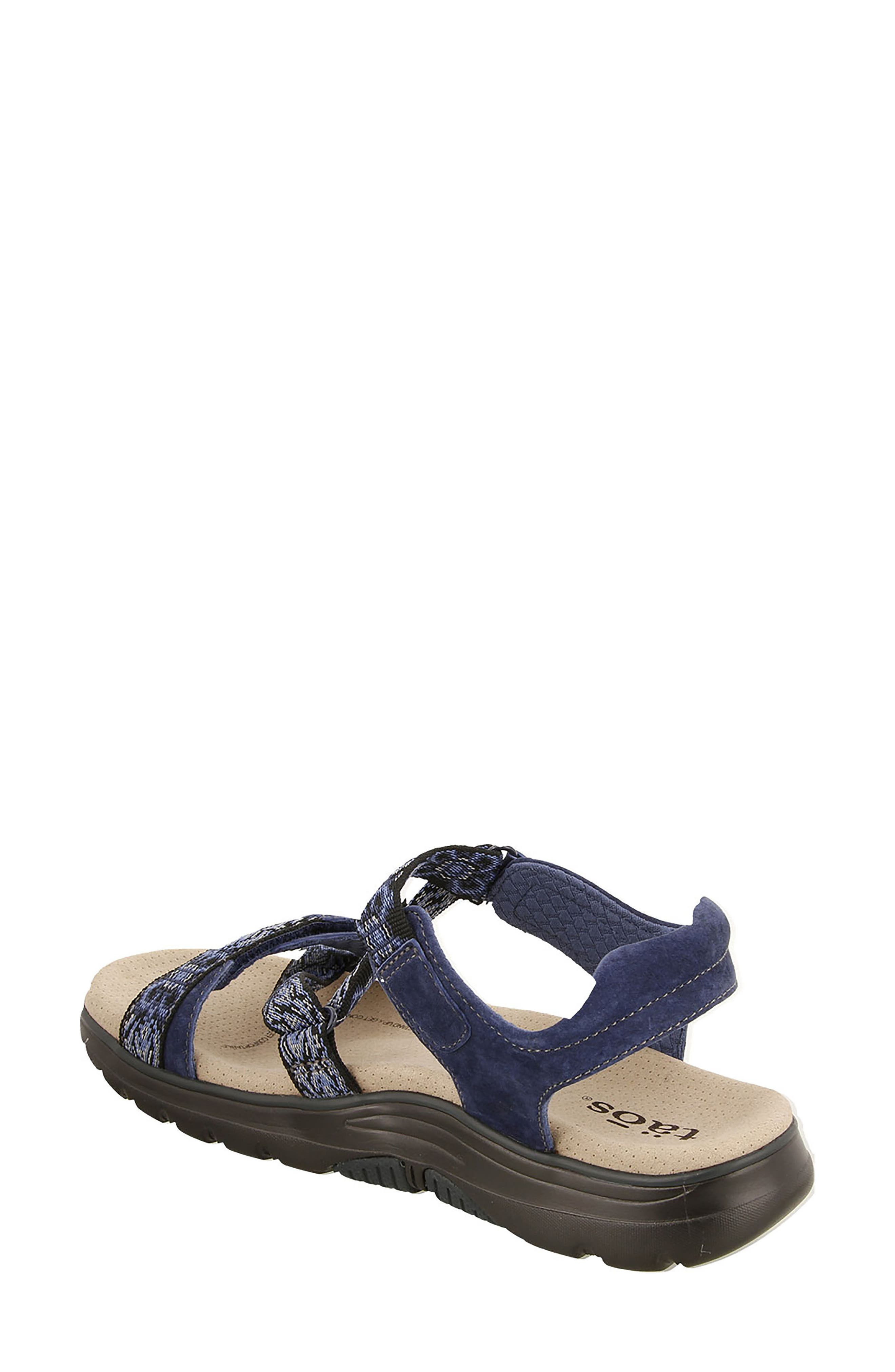 Zen Sandal,                             Alternate thumbnail 2, color,                             Navy/ Blue Leather