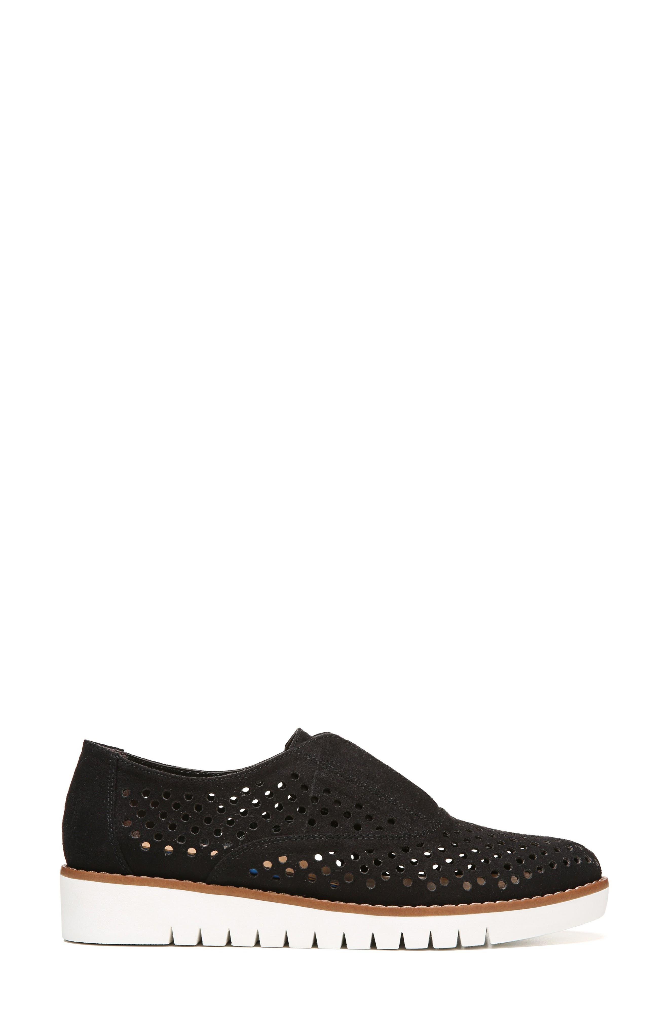 Improve Slip-On Sneaker,                             Alternate thumbnail 3, color,                             Black Fabric