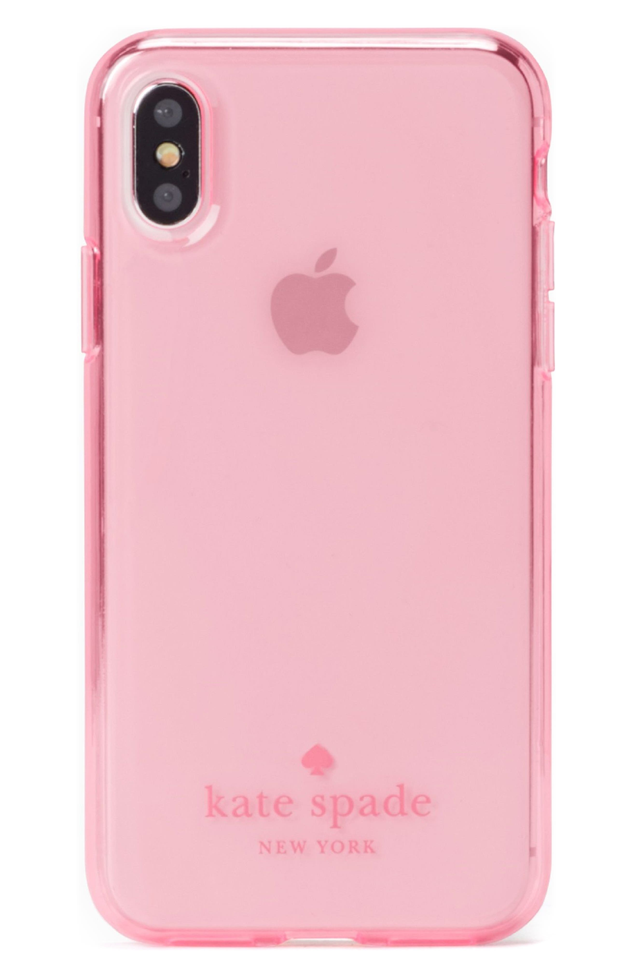 tinted iPhone X case,                         Main,                         color, Hot Pink
