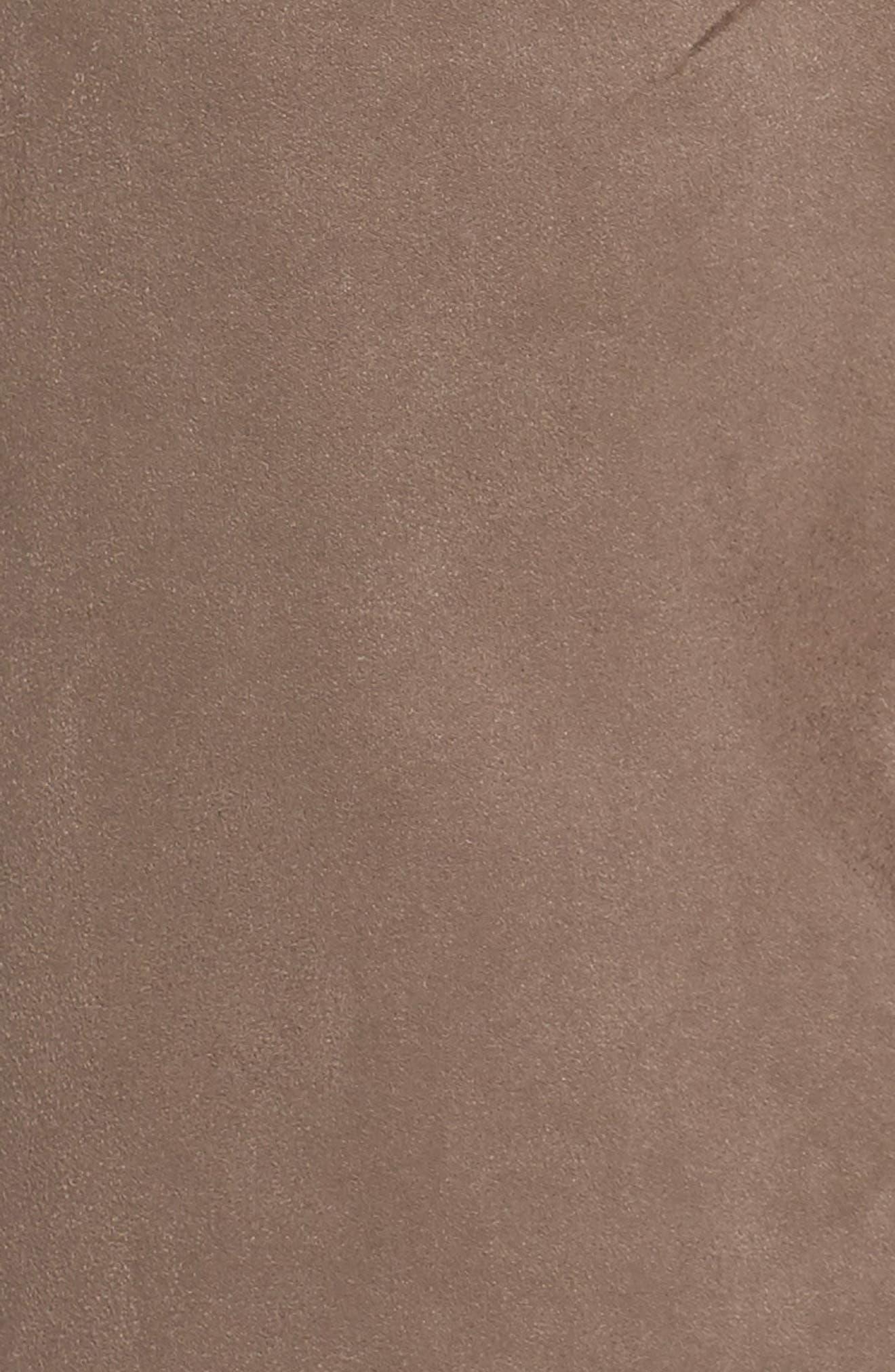 Rosa Faux Suede Knit Pants,                             Alternate thumbnail 5, color,                             Dark Beige