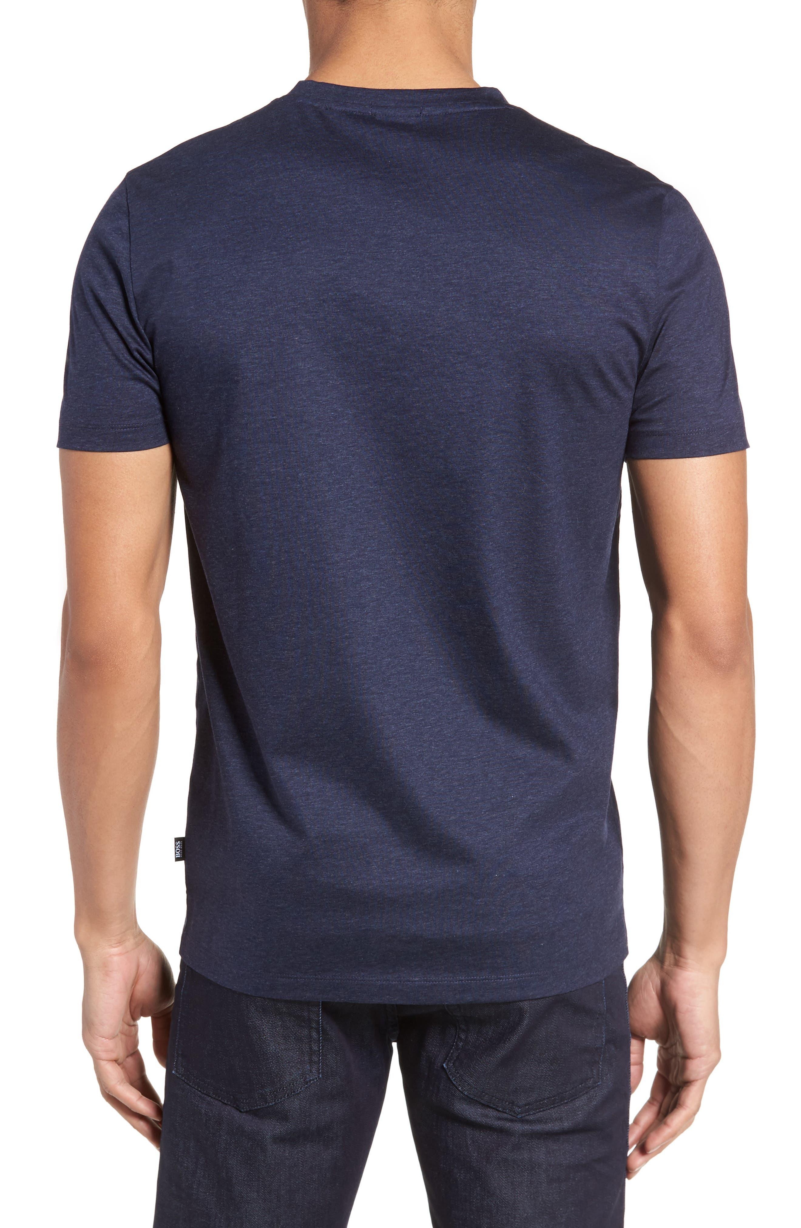 Teal Slim Fit V-Neck T-Shirt,                             Alternate thumbnail 2, color,                             Blue