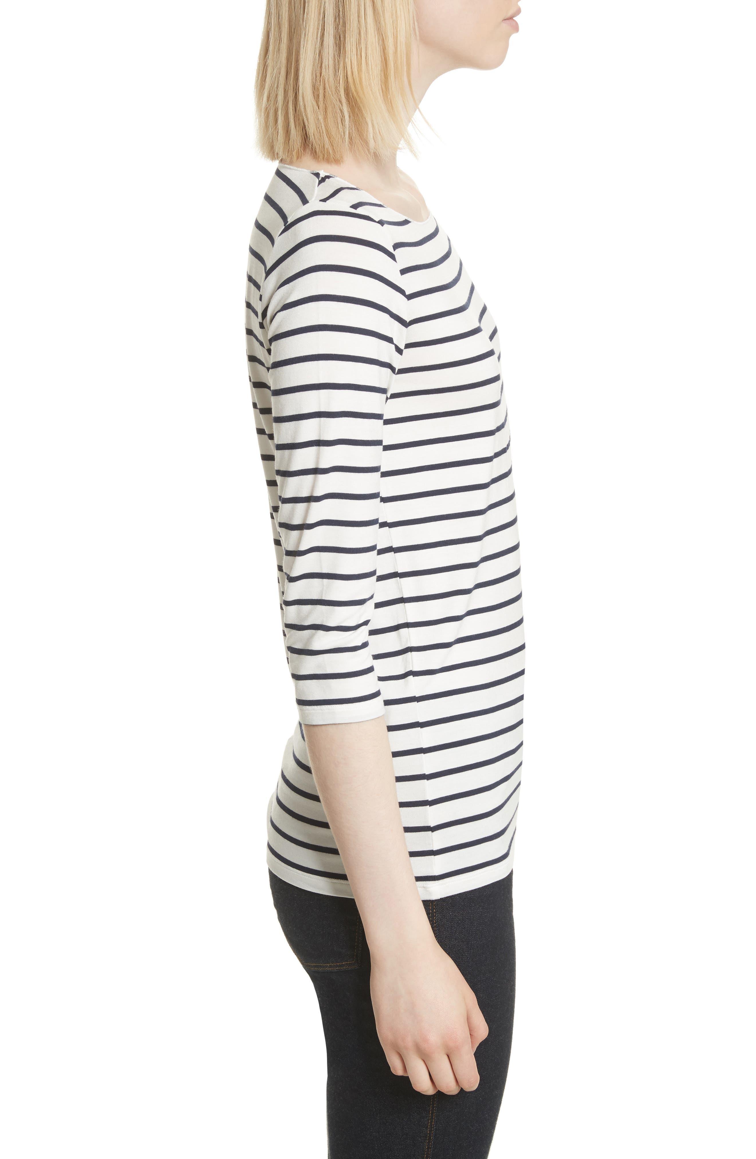 Alternate Image 3  - Majestic Filatures Stripe Boat Neck Shirt