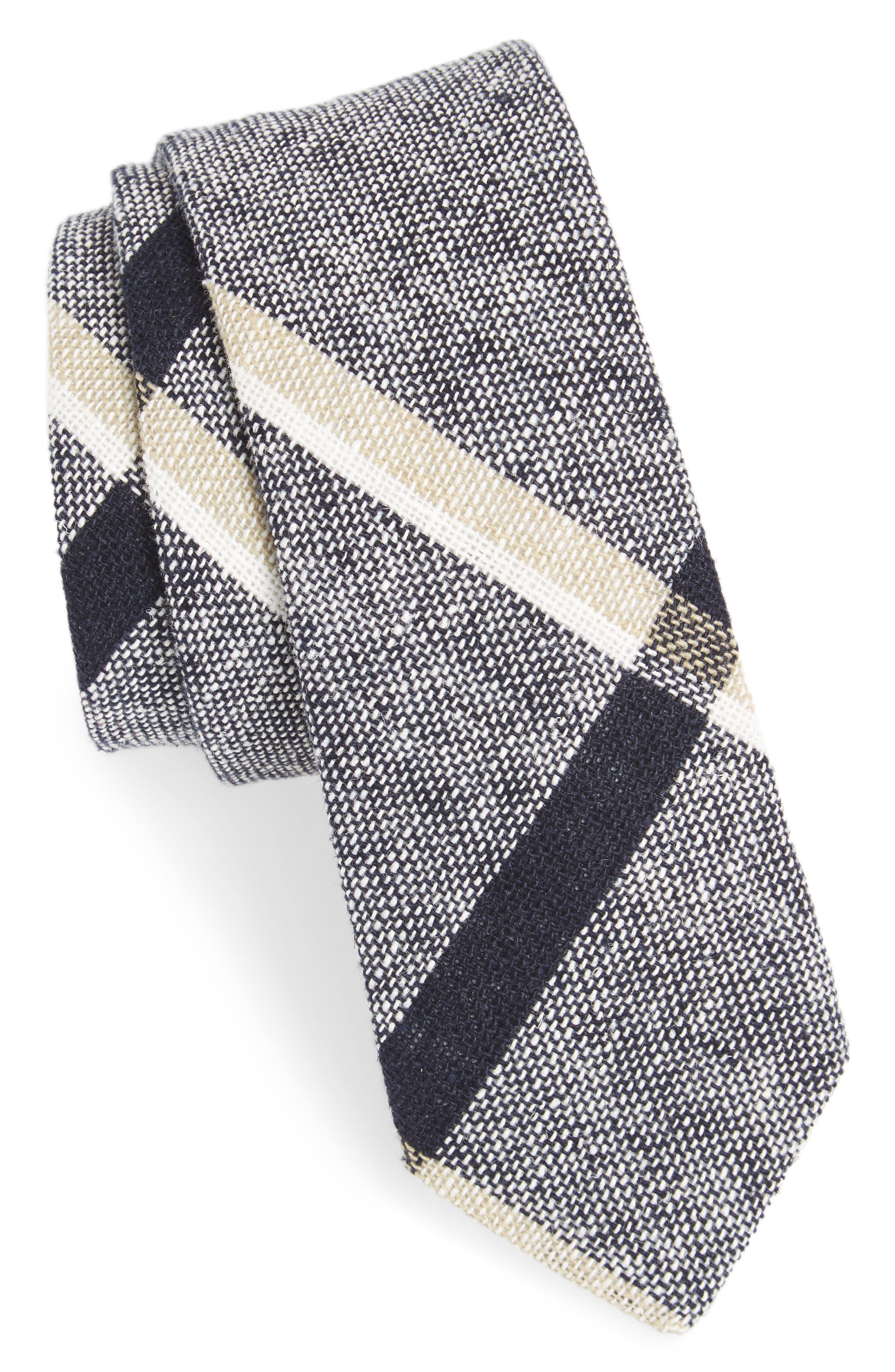 Newport Check Tie,                             Main thumbnail 1, color,                             Navy