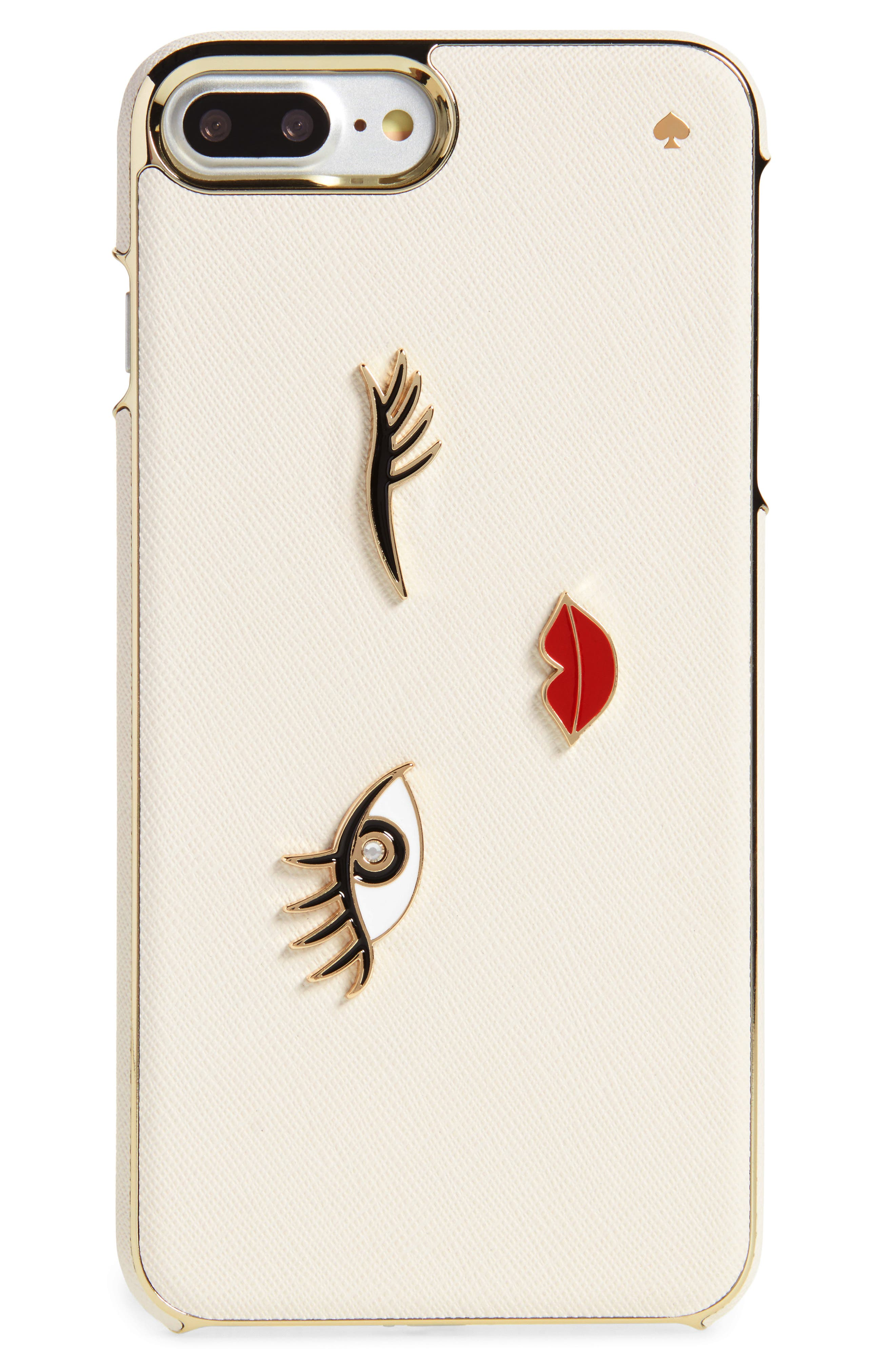 Main Image - kate spade new york winking girl iPhone 7/8 Plus case