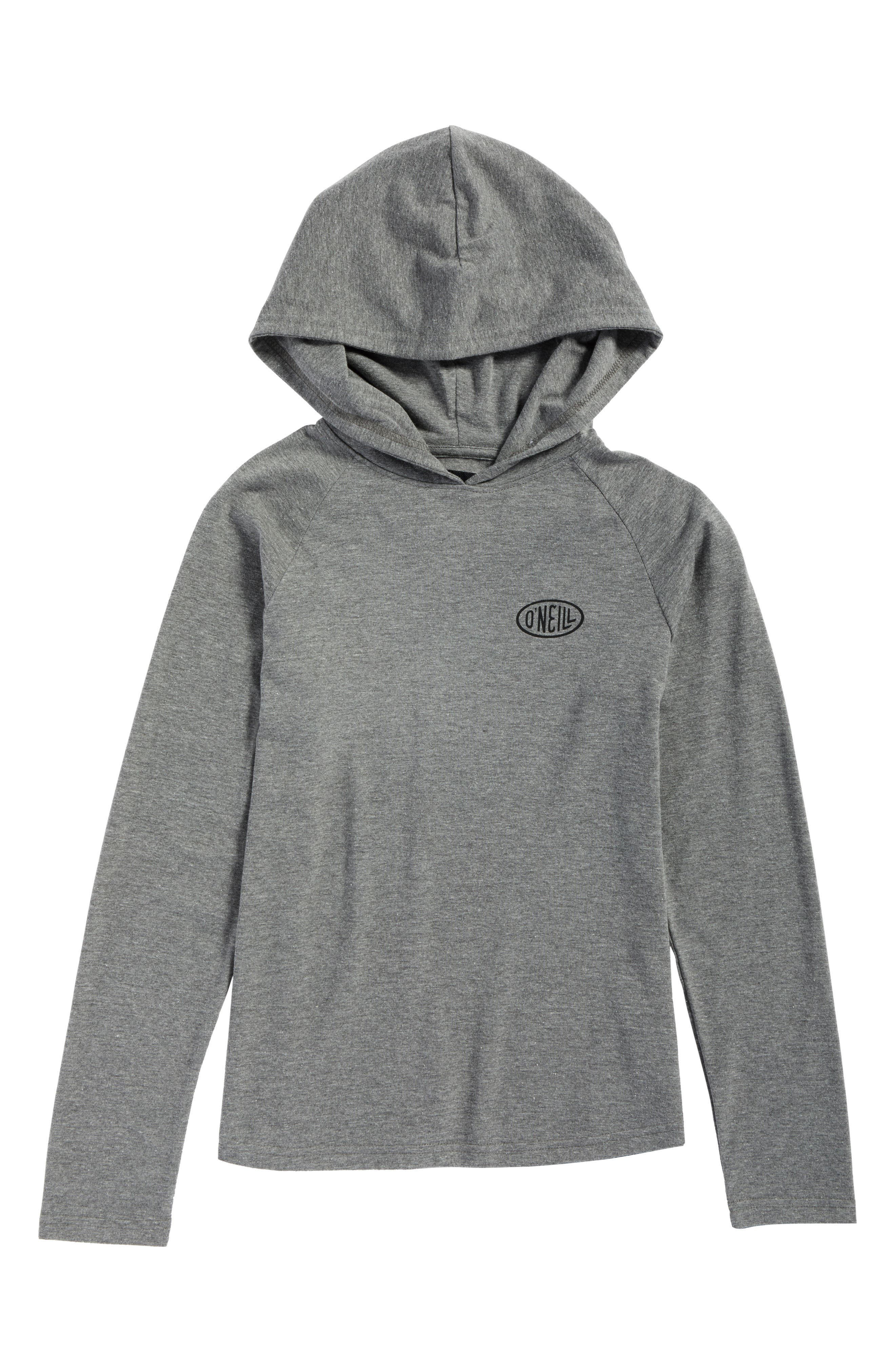 Malcom Logo Graphic Pullover Hoodie,                             Main thumbnail 1, color,                             Heather Grey