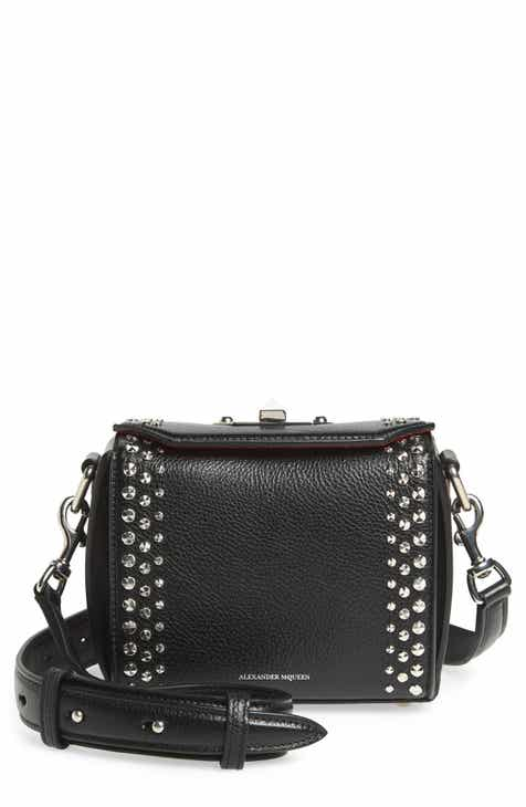 bfd13b305151 Alexander McQueen Box Bag 16 Studded Leather Bag