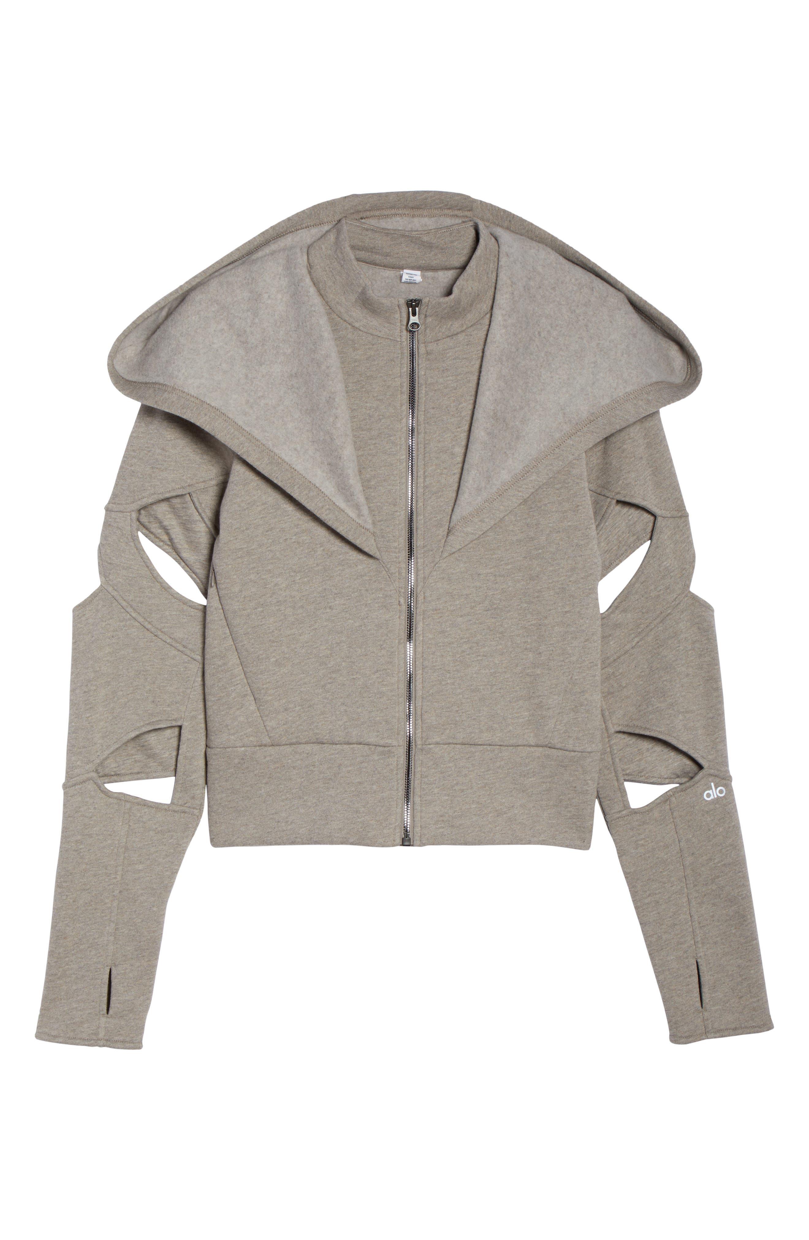 Alternate Image 6  - Alo Mix Hooded Jacket