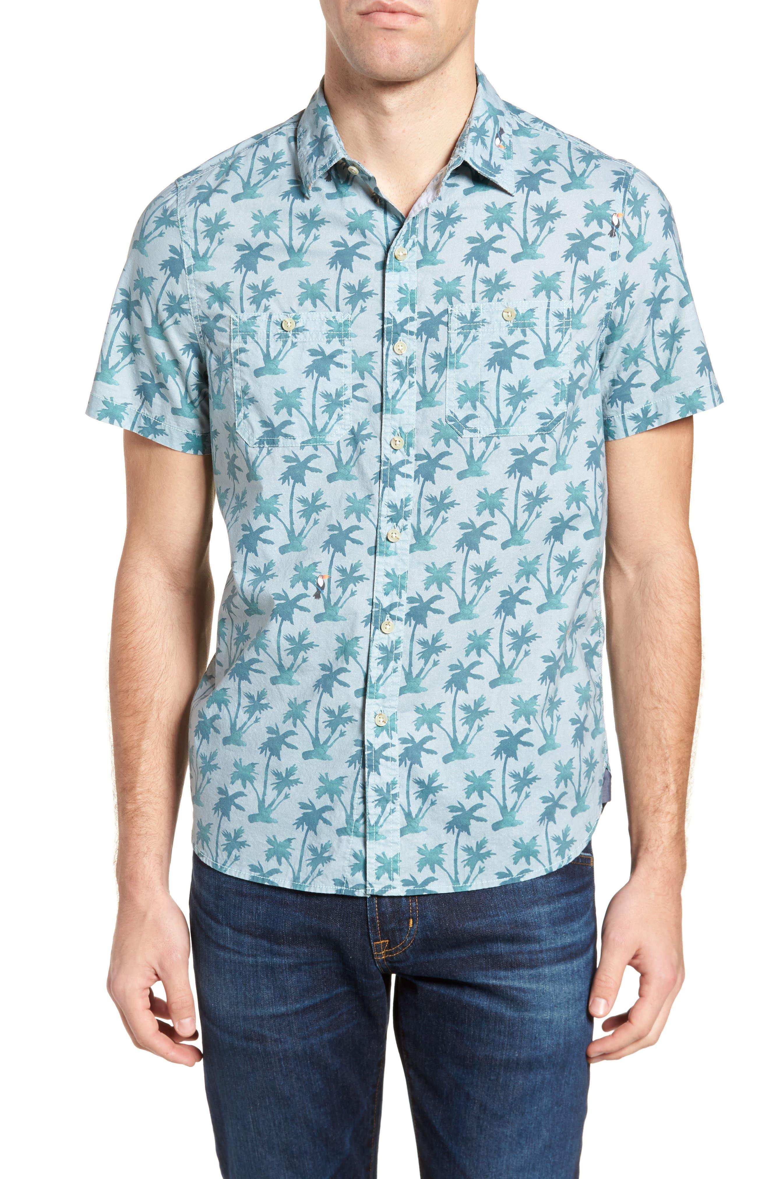 Michael Bastian Utility Print Sport Shirt