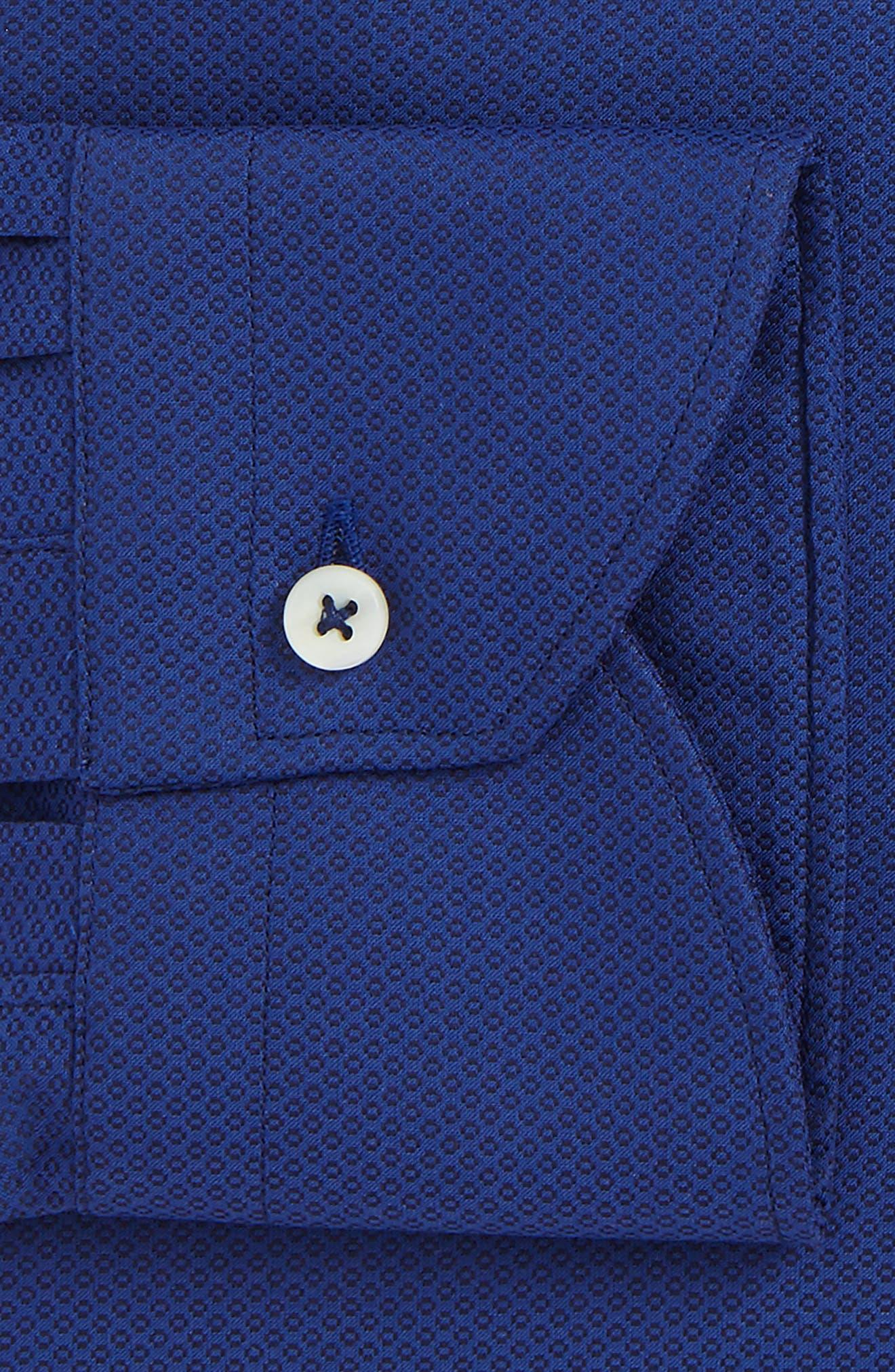 Regular Fit Geometric Dress Shirt,                             Alternate thumbnail 2, color,                             Dark Blue