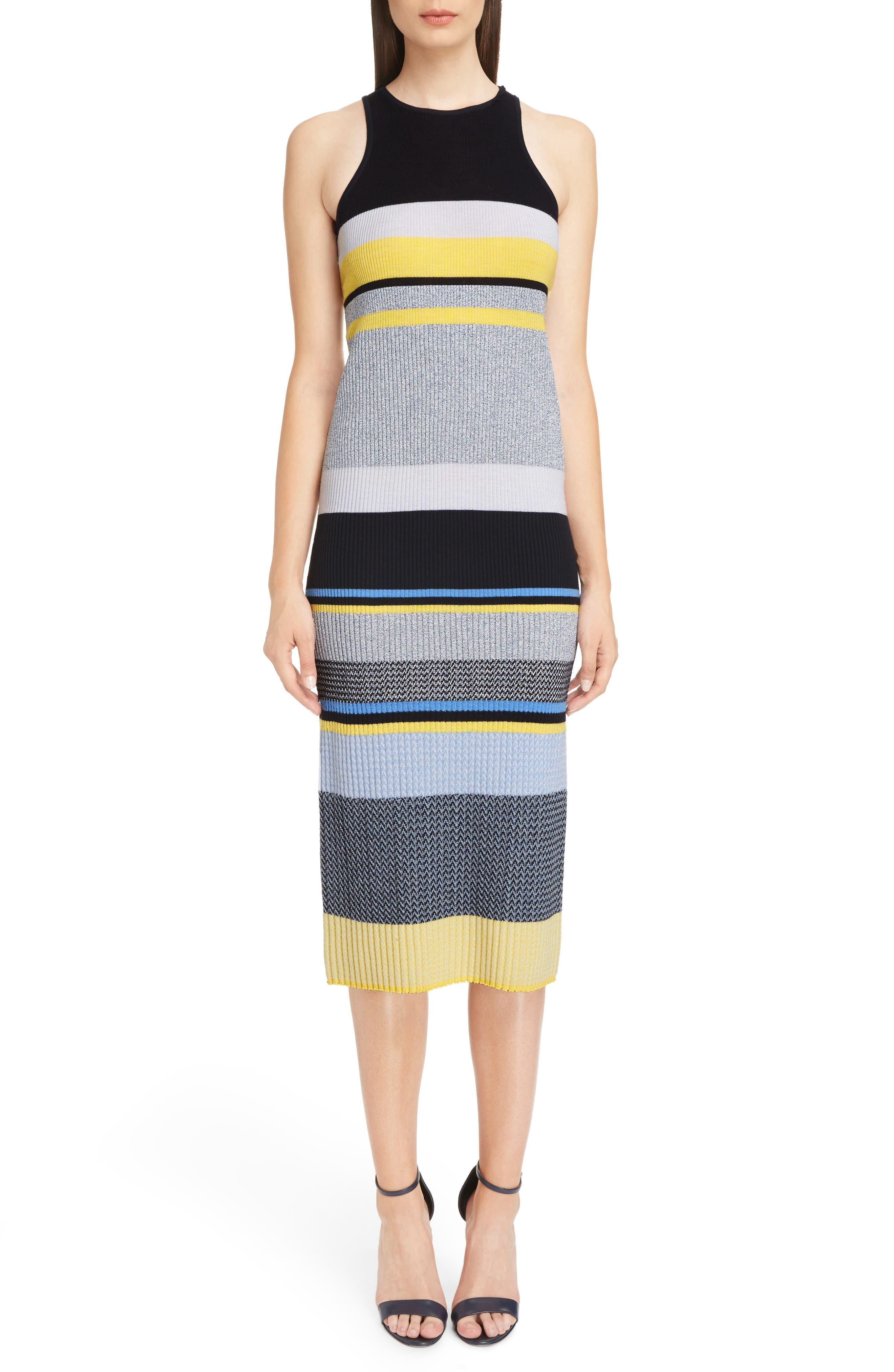 Victoria, Victoria Beckham Stripe Knit Dress