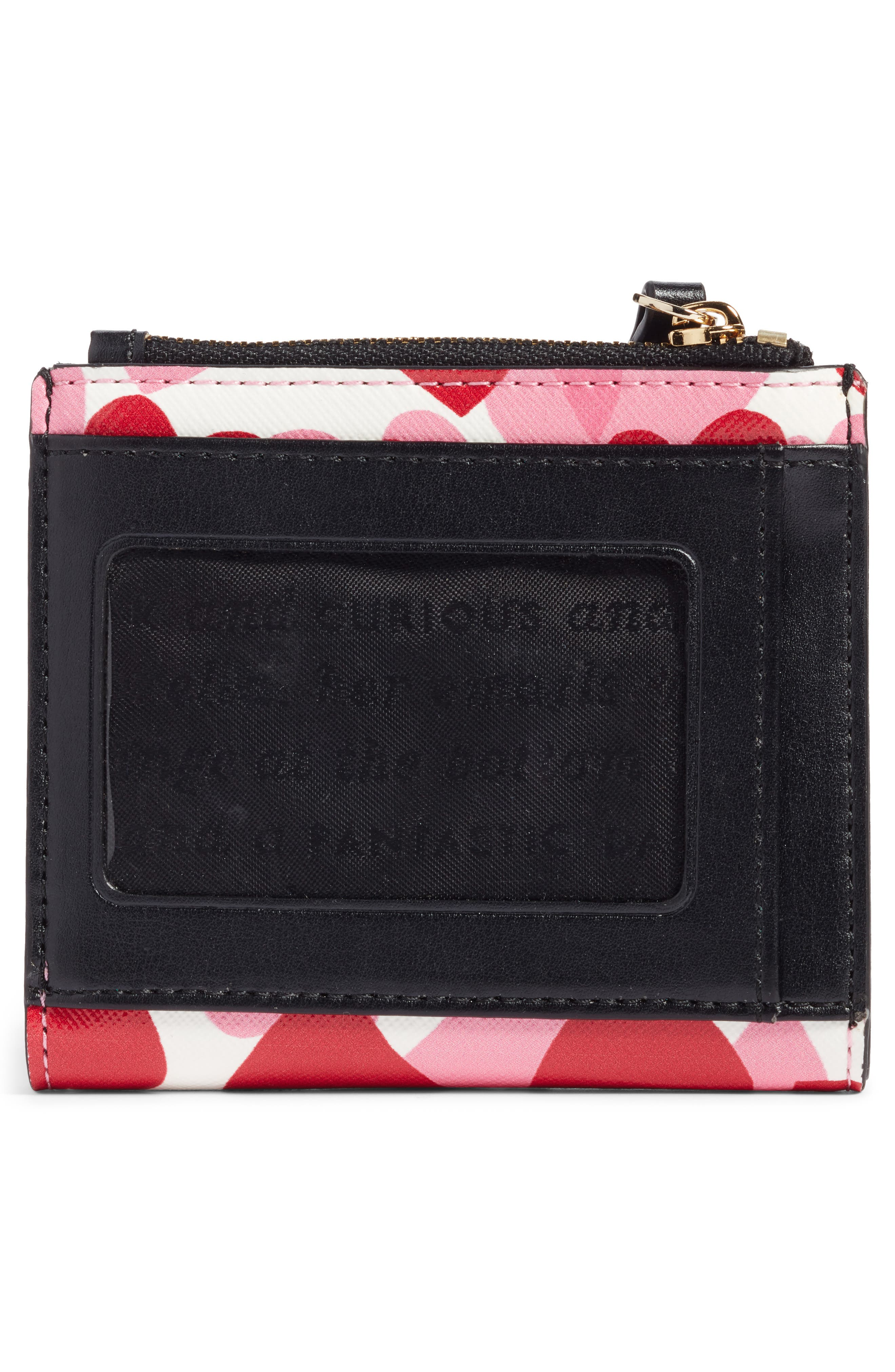 yours truly adalyn faux leather wallet,                             Alternate thumbnail 3, color,                             Heart Party