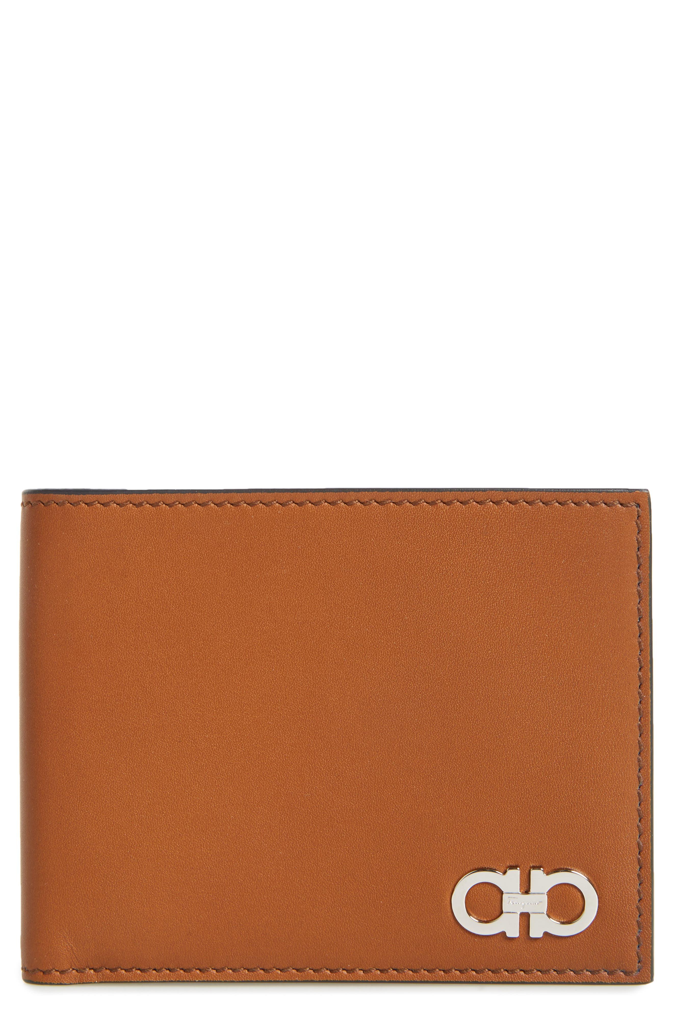 Calfskin Leather Bifold Wallet,                             Main thumbnail 1, color,                             Radica