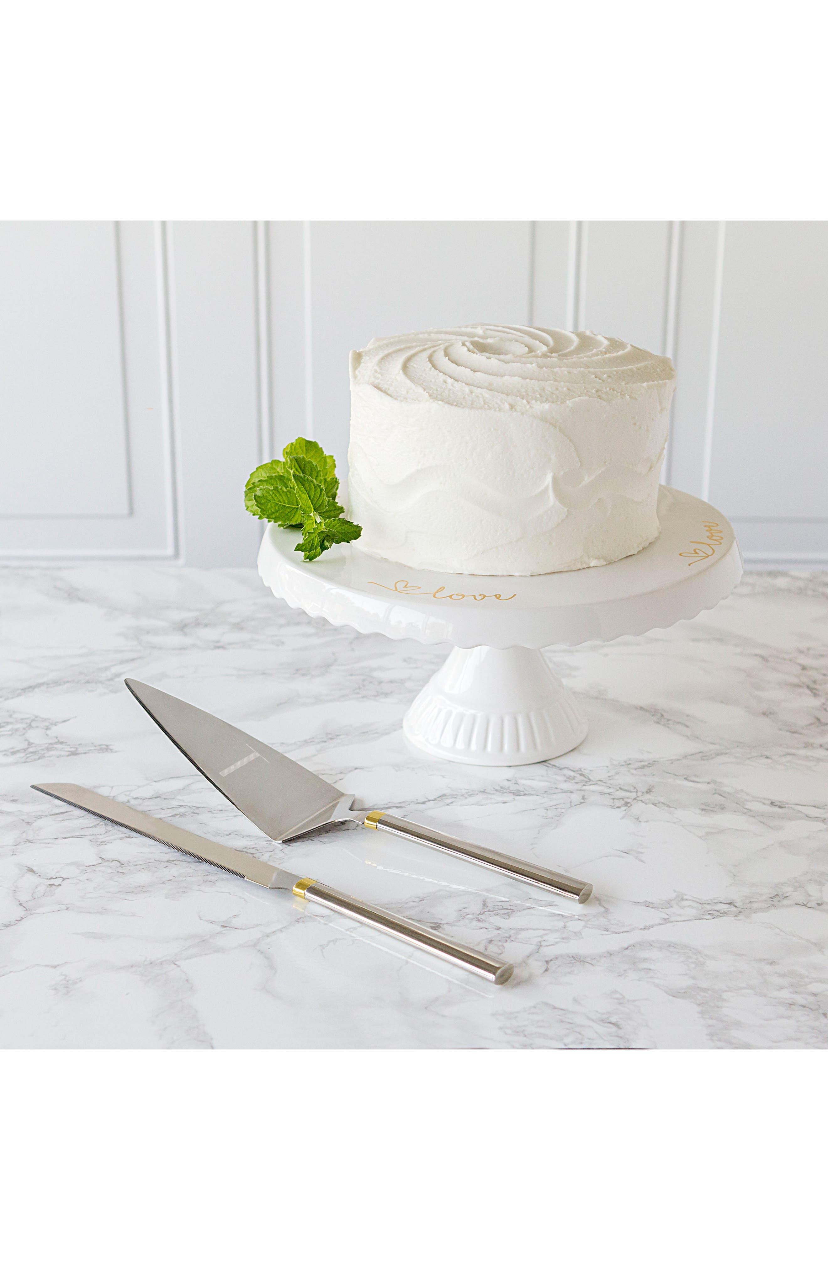 Love Monogram Cake Stand & Server Set,                             Alternate thumbnail 3, color,