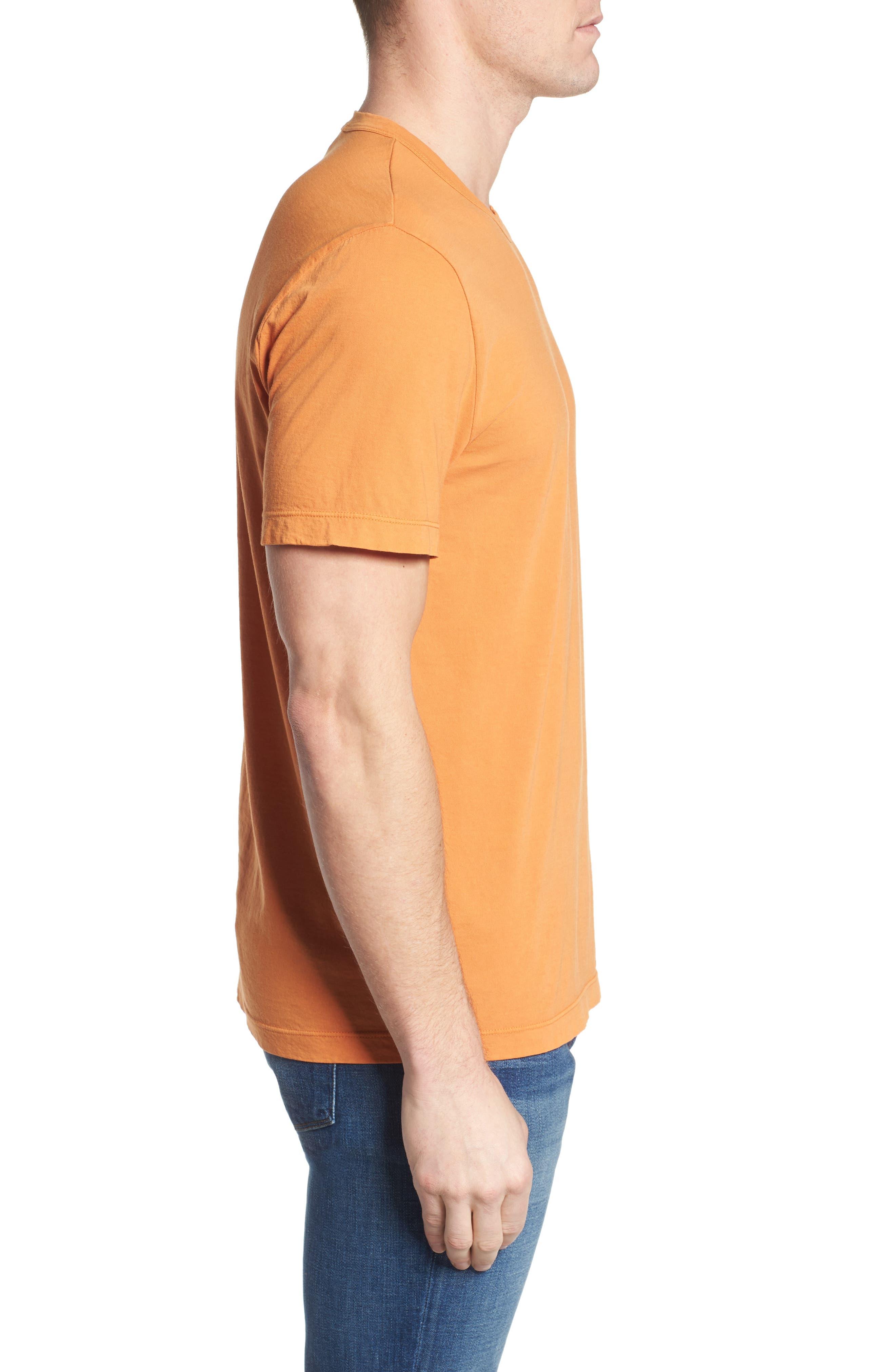Crewneck Jersey T-Shirt,                             Alternate thumbnail 3, color,                             Goldfish Pigment