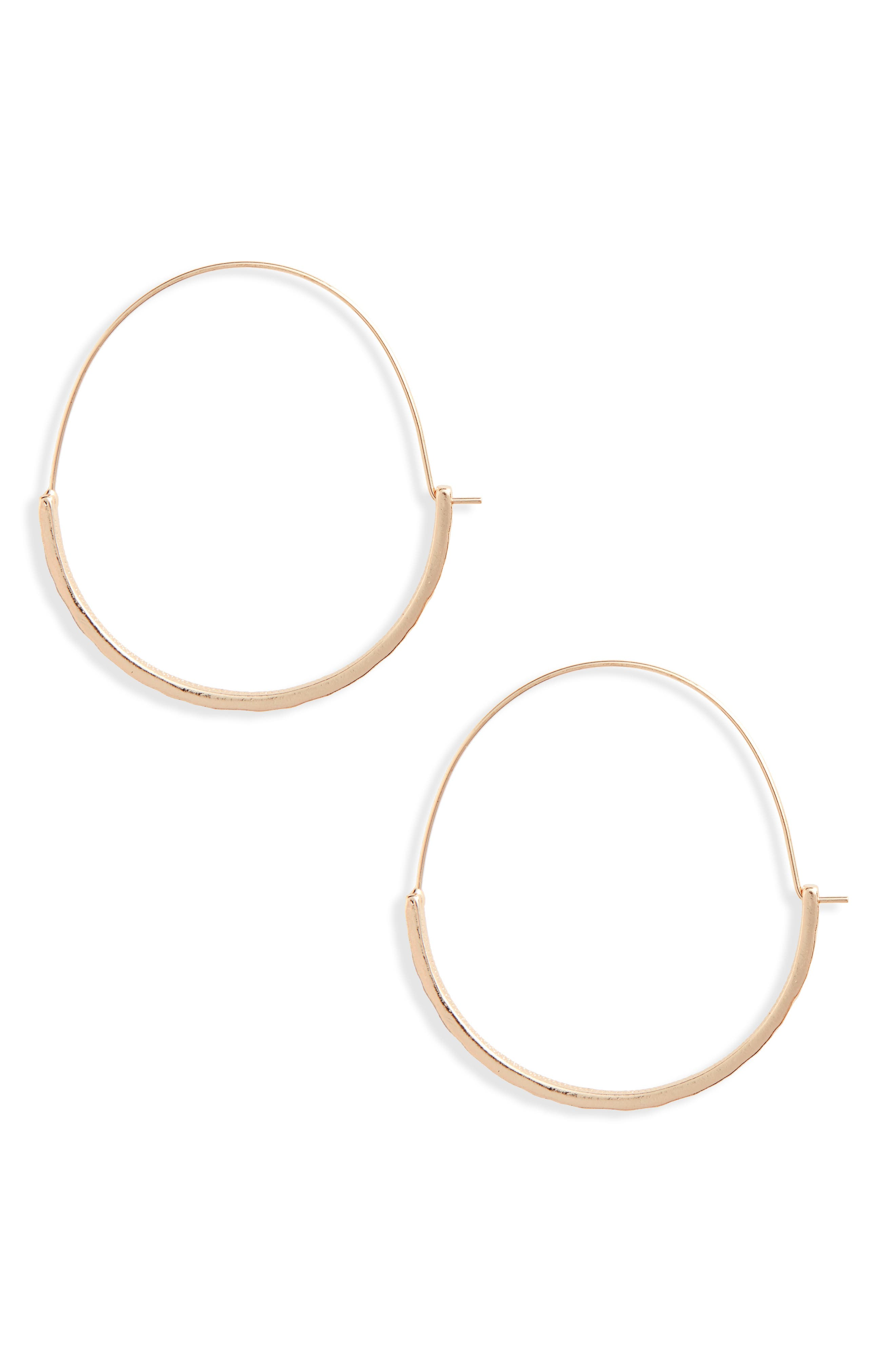 Alternate Image 1 Selected - BP. Thin Hammered Hoops