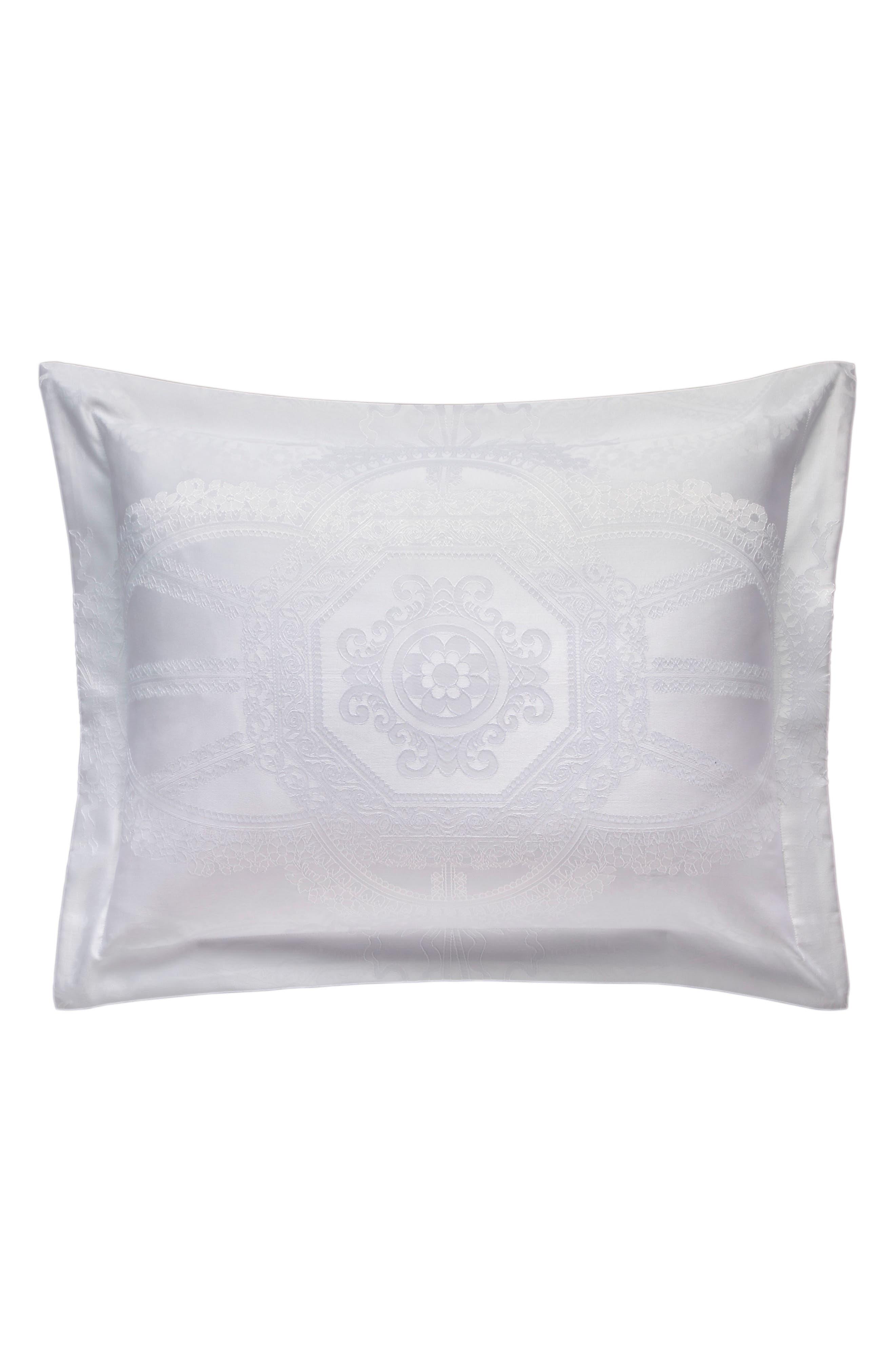 Versailles Comforter & Sham Set,                             Alternate thumbnail 6, color,                             White